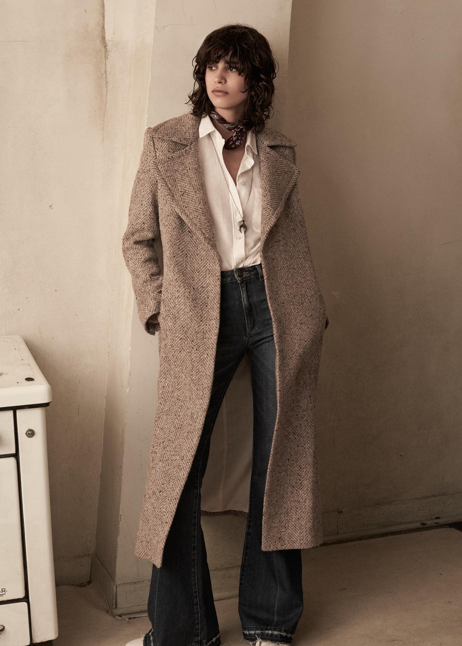 Gallery - Mango Premium - Long Wool Coat In Natural Lyst
