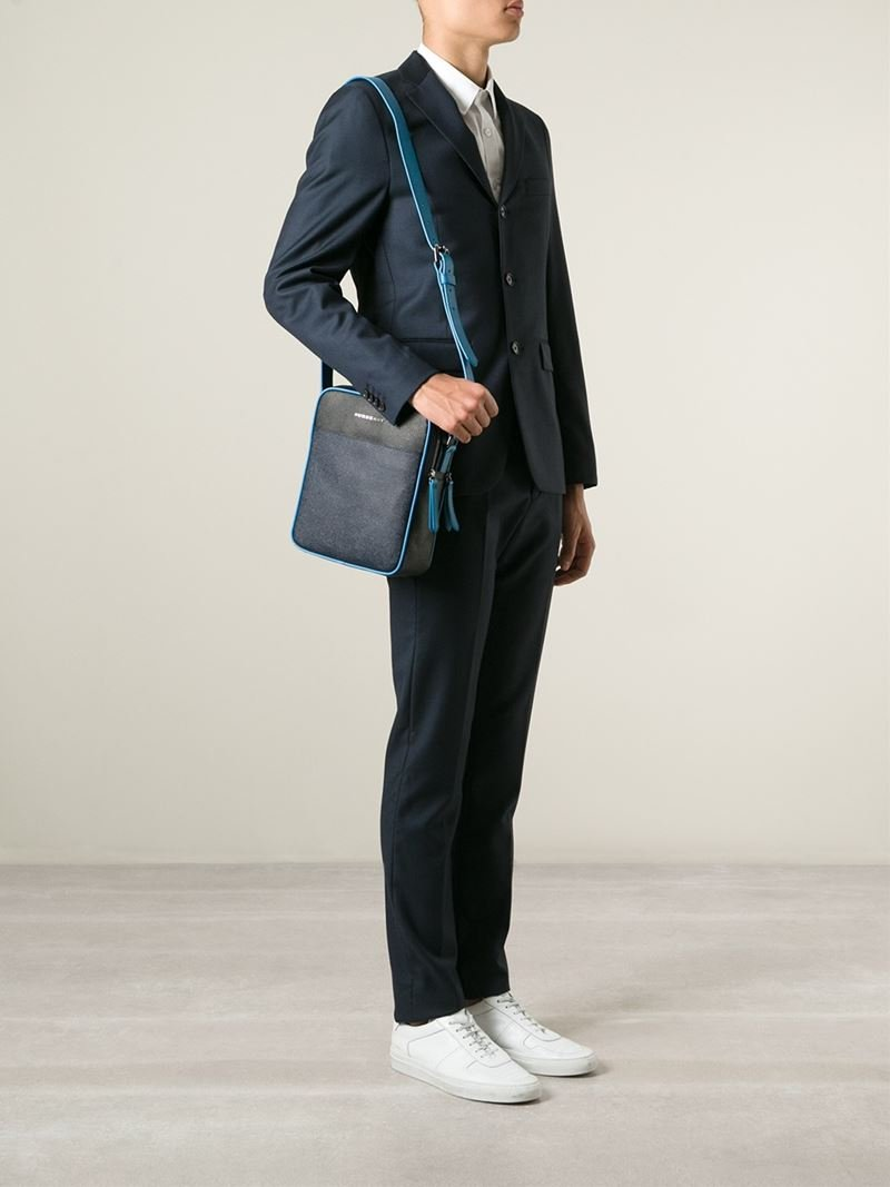 ccd591383657 Lyst - Burberry Colour Block London Leather Crossbody Bag in Blue ...