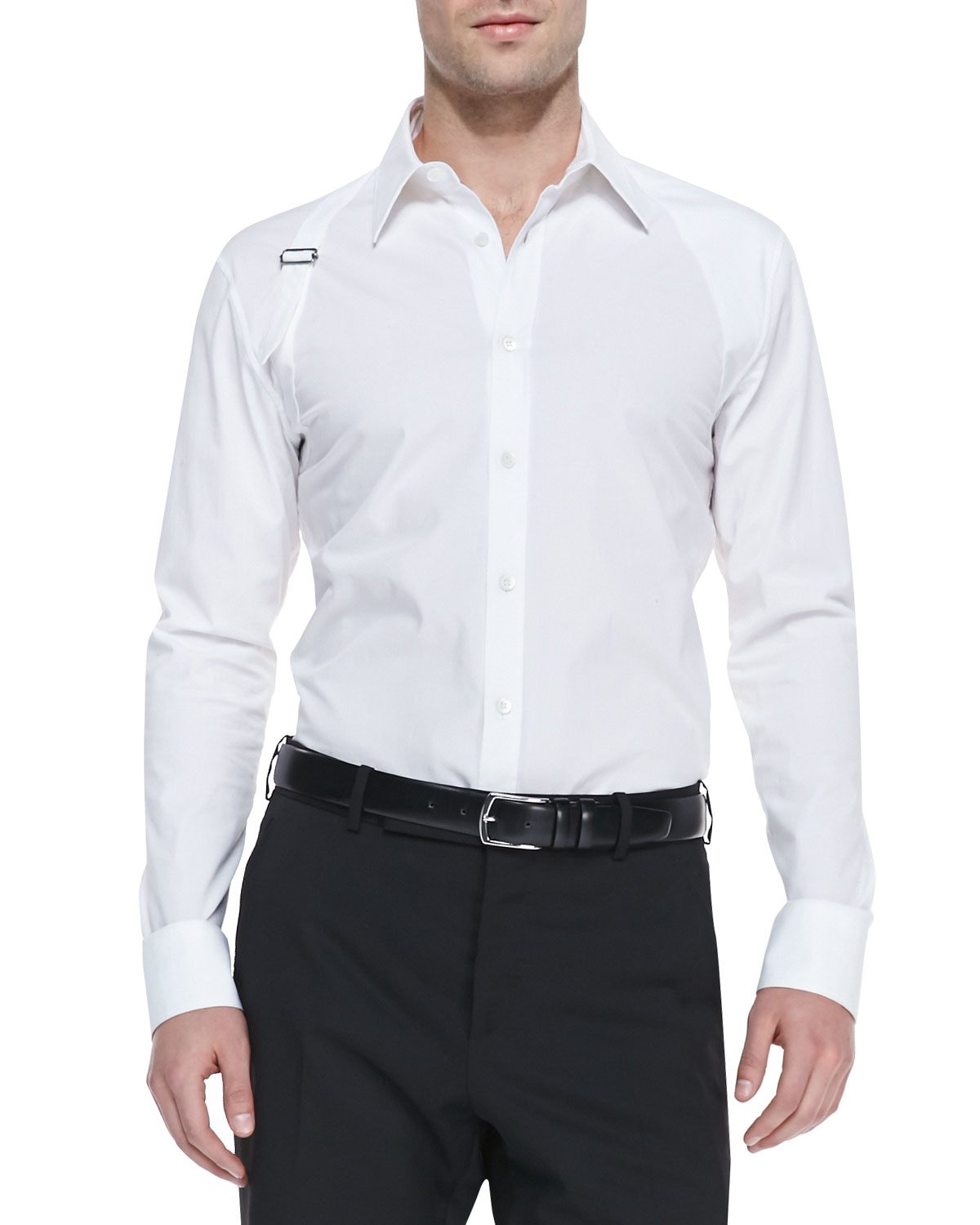 Get To Buy Sale Online harness shirt - White Alexander McQueen Shopping Online With Mastercard Inexpensive Online Low Cost Discounts Cheap Price 0slvNsA