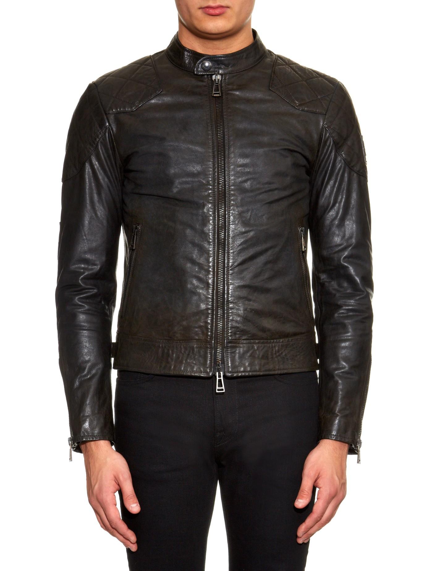 Belstaff Outlaw Leather Jacket In Black For Men Lyst