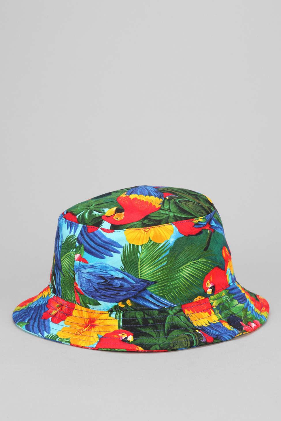 5fc9ca3dc25 ... where can i buy lyst milkcrate athletics tropical bucket hat for men  64de5 9a964 ...