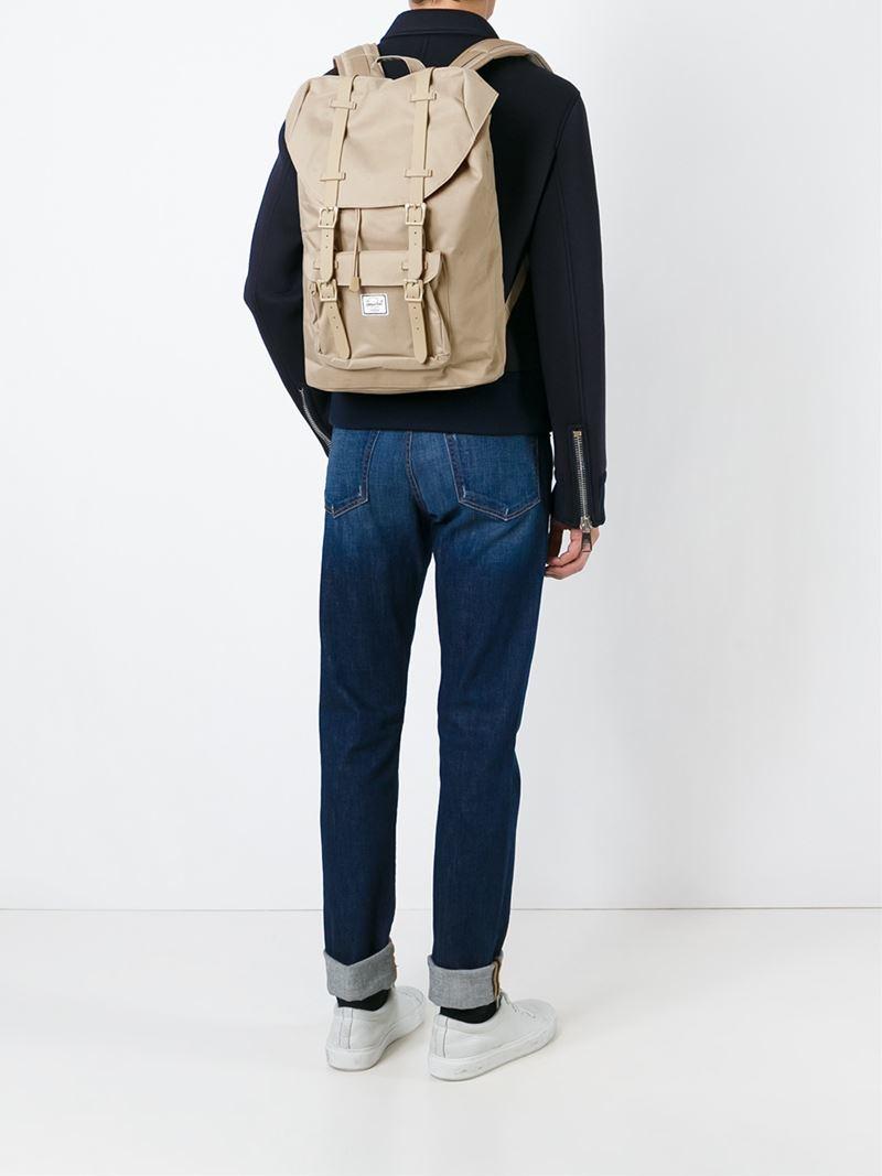 Herschel Supply Co.  little America  Backpack in Natural for Men - Lyst 356f4057e4
