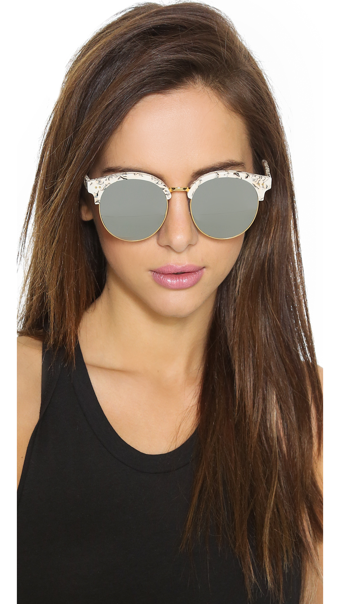 Lyst Gentle Monster Mooncut Sunglasses White Gold