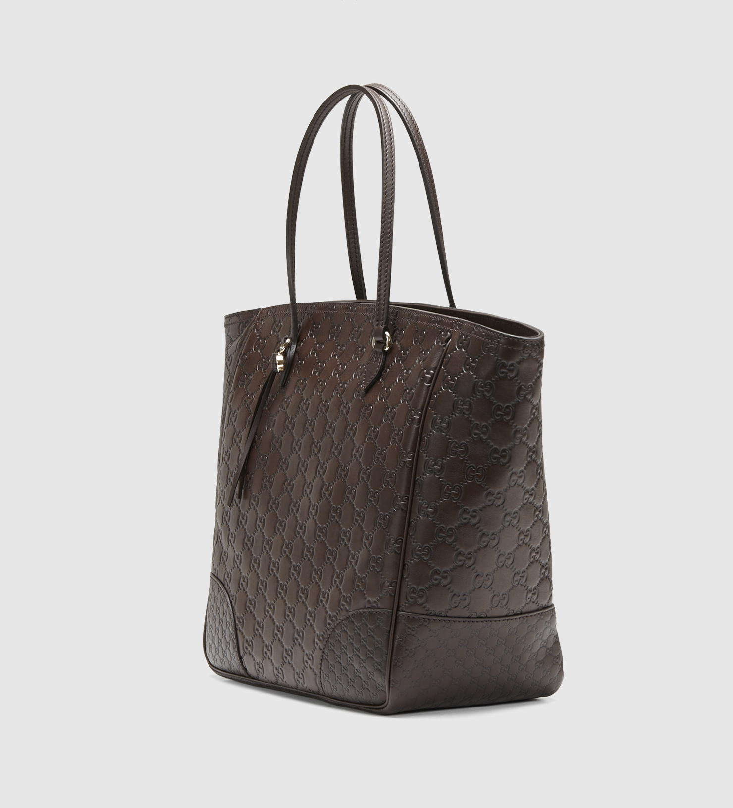 56a8126572f Gucci Bree Brown Ssima Leather Tote in Brown - Lyst