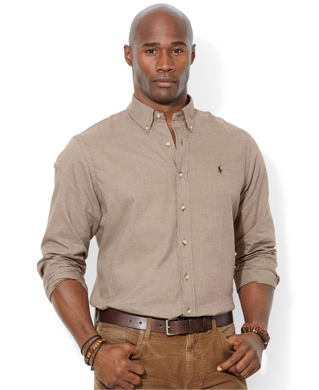Polo ralph lauren big and tall long sleeve mini for Big and tall long sleeve shirts