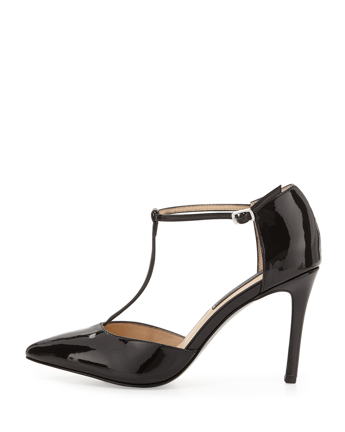 e1f0a6402040 Lyst - Steven by Steve Madden Amanda Patent Leather T-strap Pump in ...