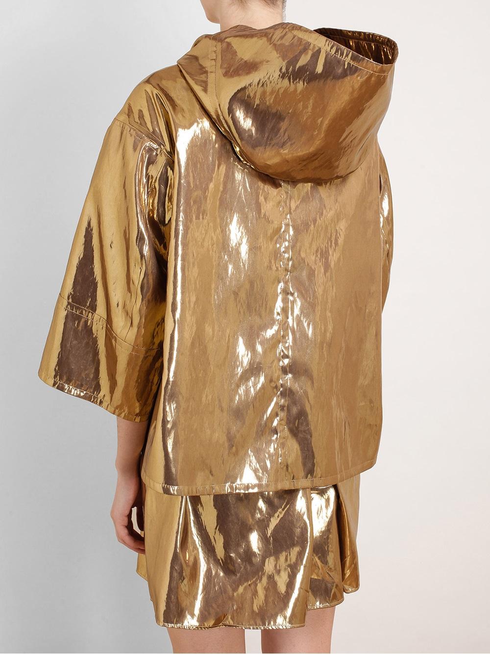 26379240ea2 N°21 Hooded Metallic Parka Jacket in Metallic - Lyst