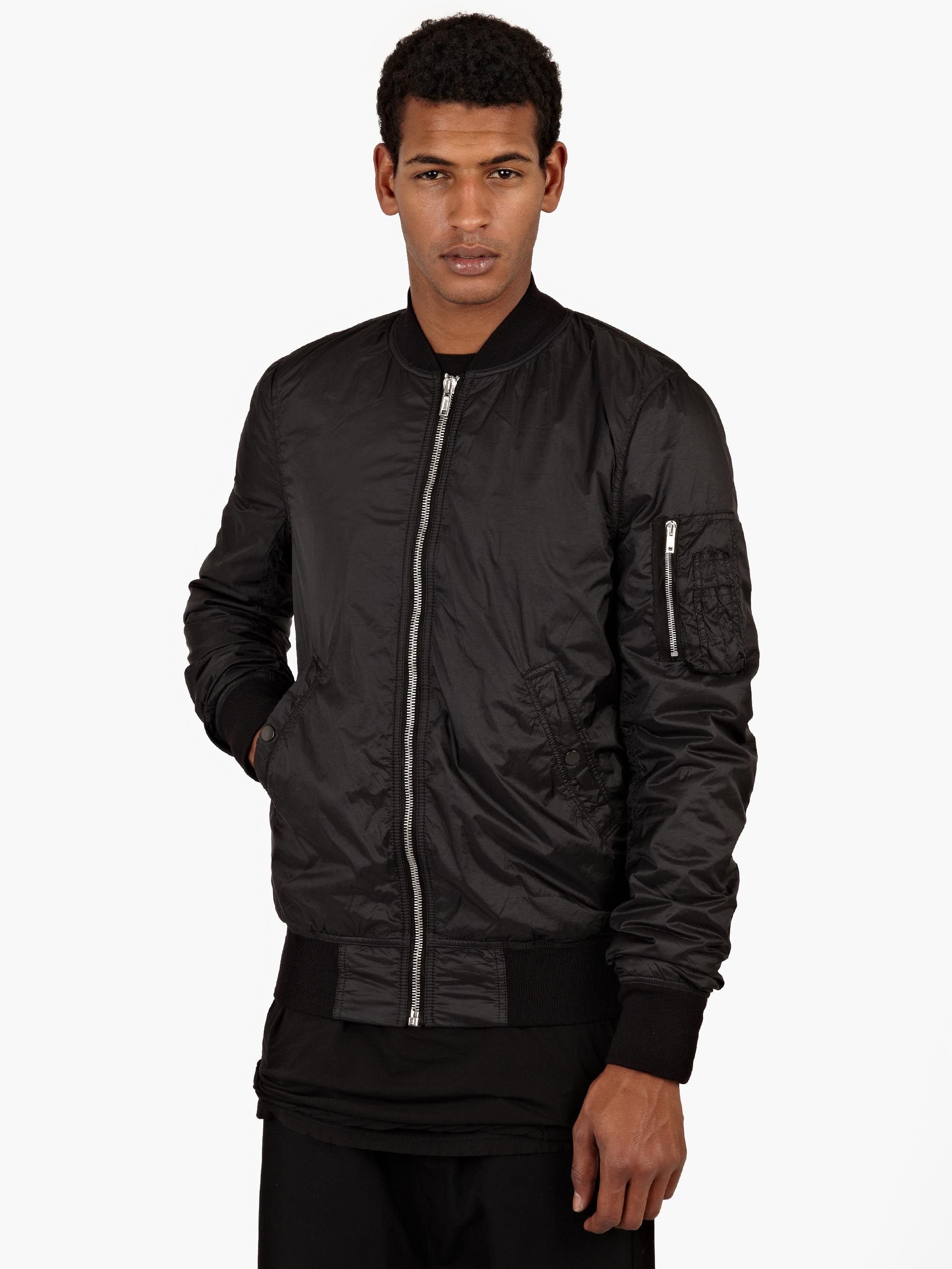 Black Nylon Flight Jacket 22