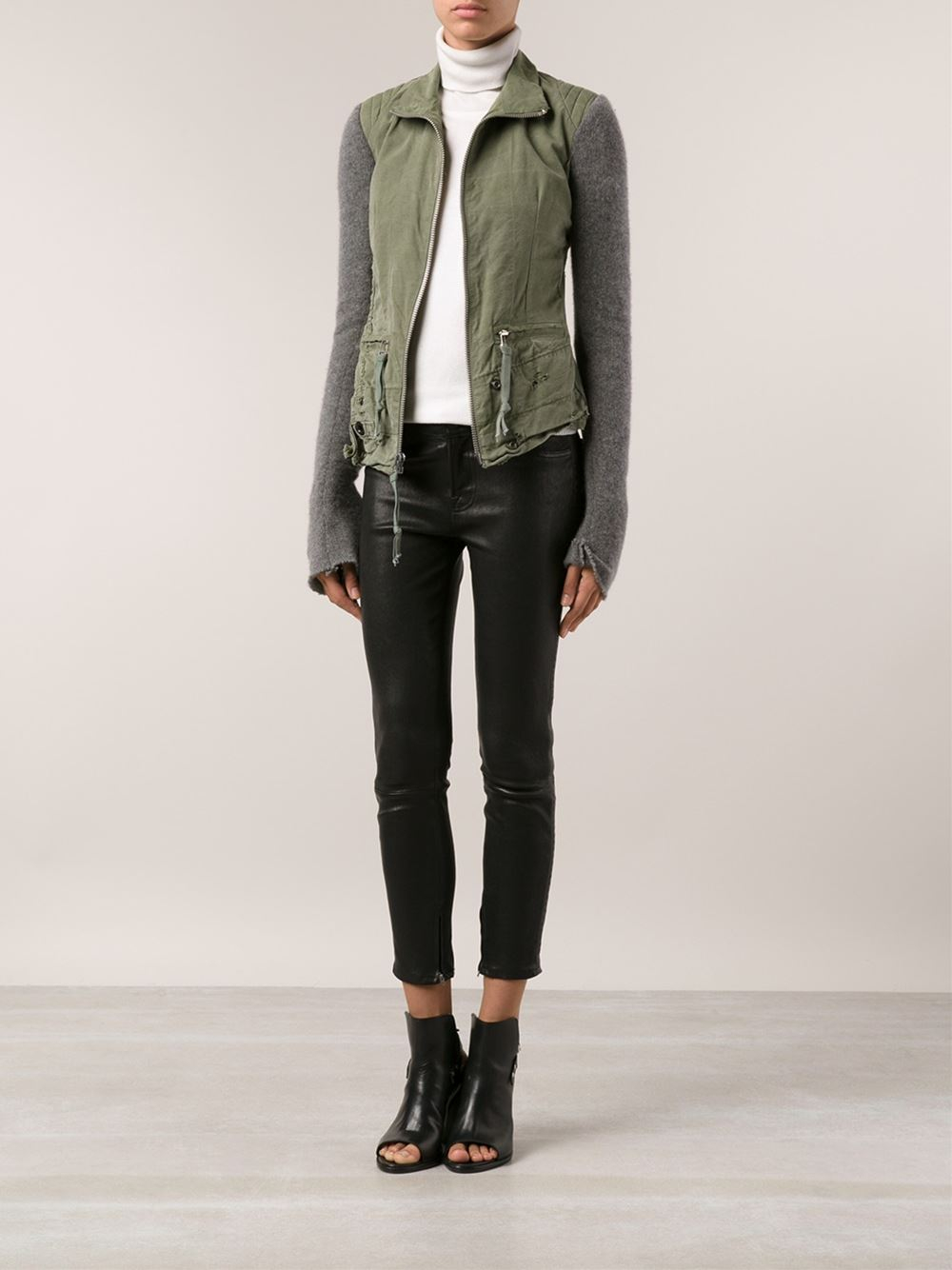 Green Fitted Jacket - Coat Nj