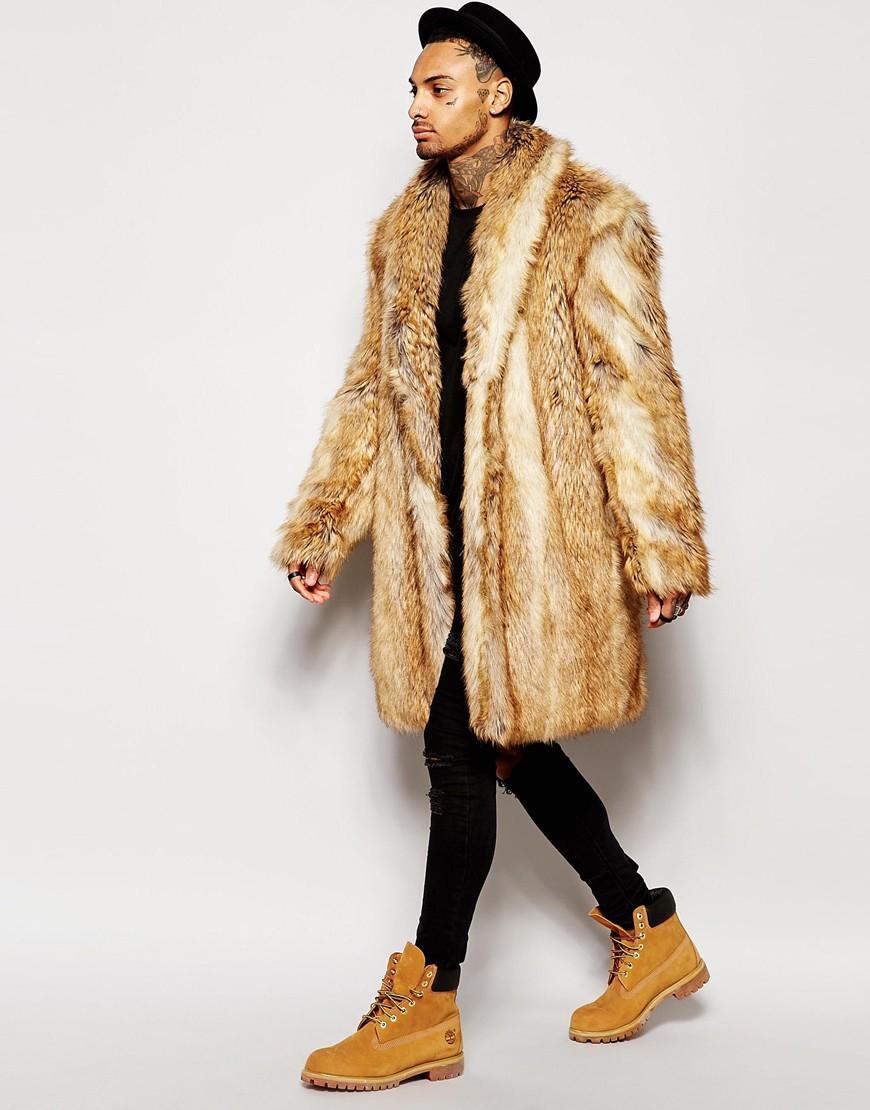 Collection Faux Fur Men S Coat Pictures - Reikian