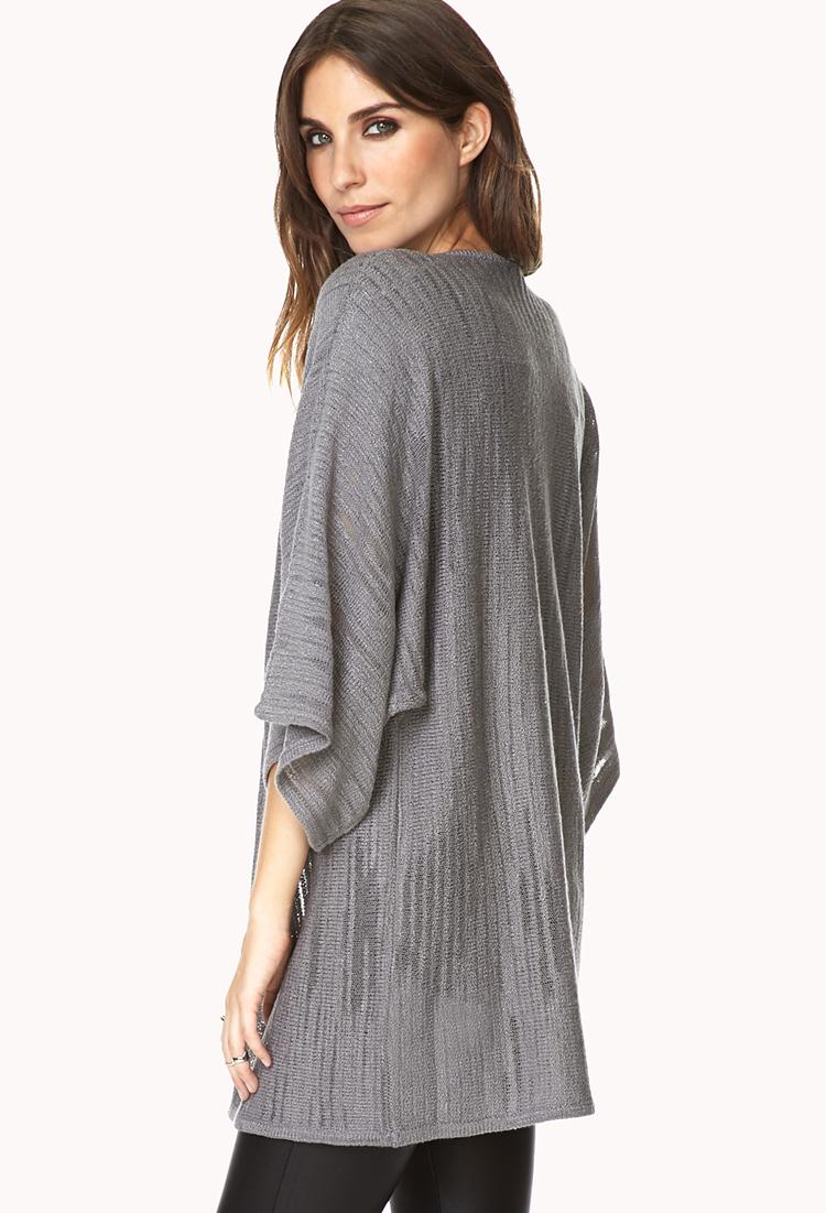 Forever 21 Free Spirit Kimono Cardigan in Gray - Lyst