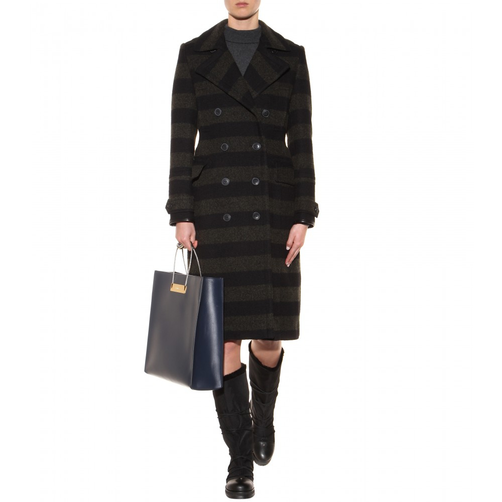 ddddef3d82bc Lyst - Jimmy Choo Drexel Leather And Canvas Fur-lined Boots in Black