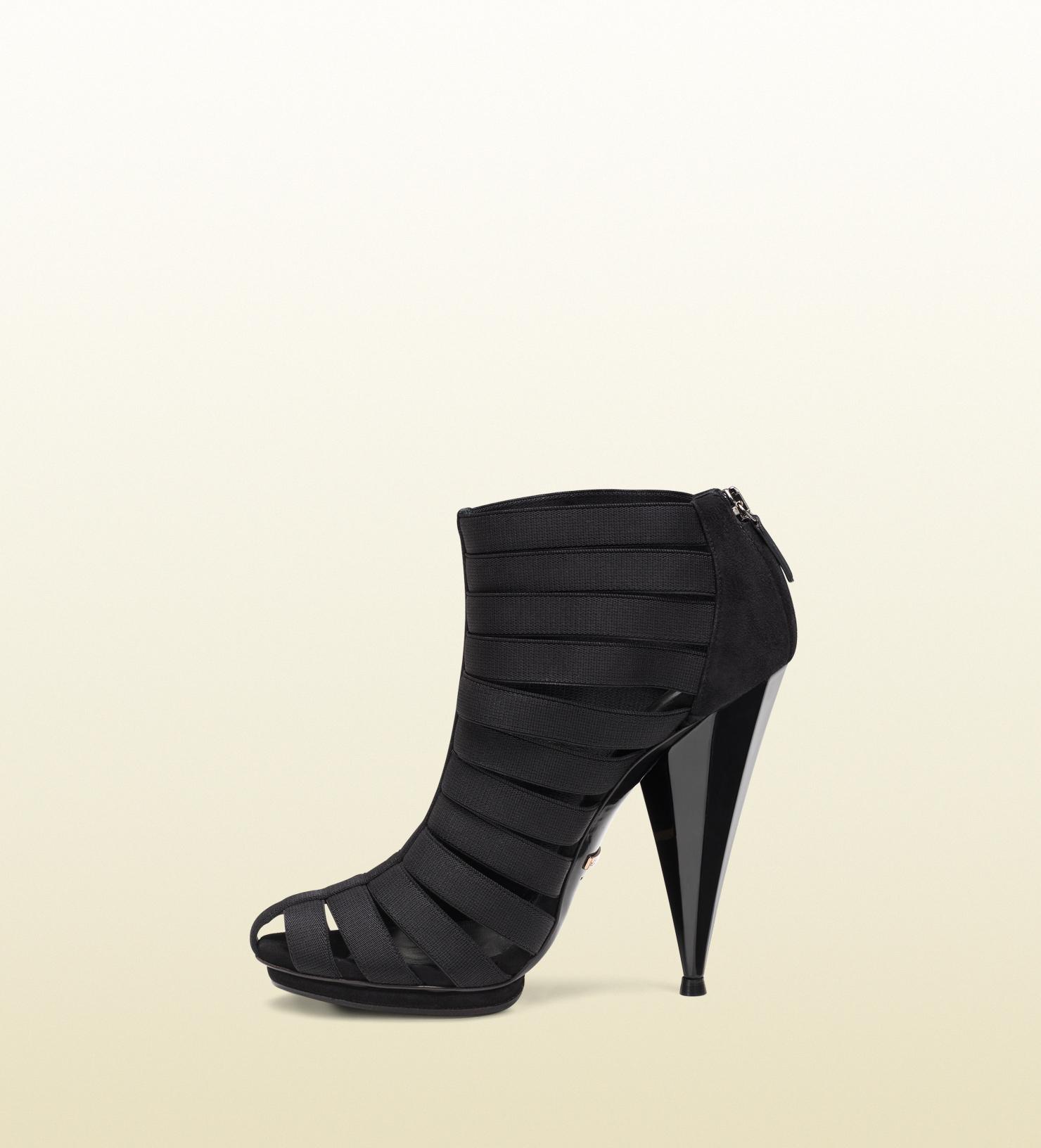 1dc89b3c1 Gucci Isadora Elastic Gladiator Bootie in Black - Lyst