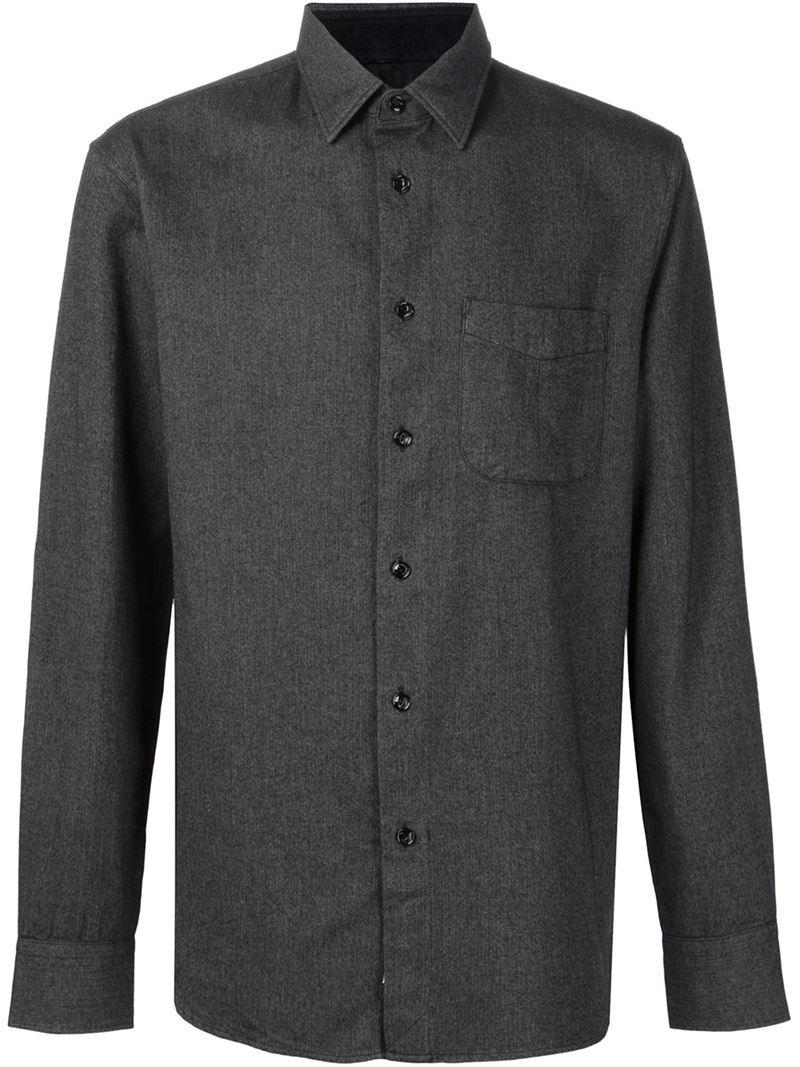 Lyst rag bone 39 beach 39 shirt in gray for men for Rag and bone mens shirts sale