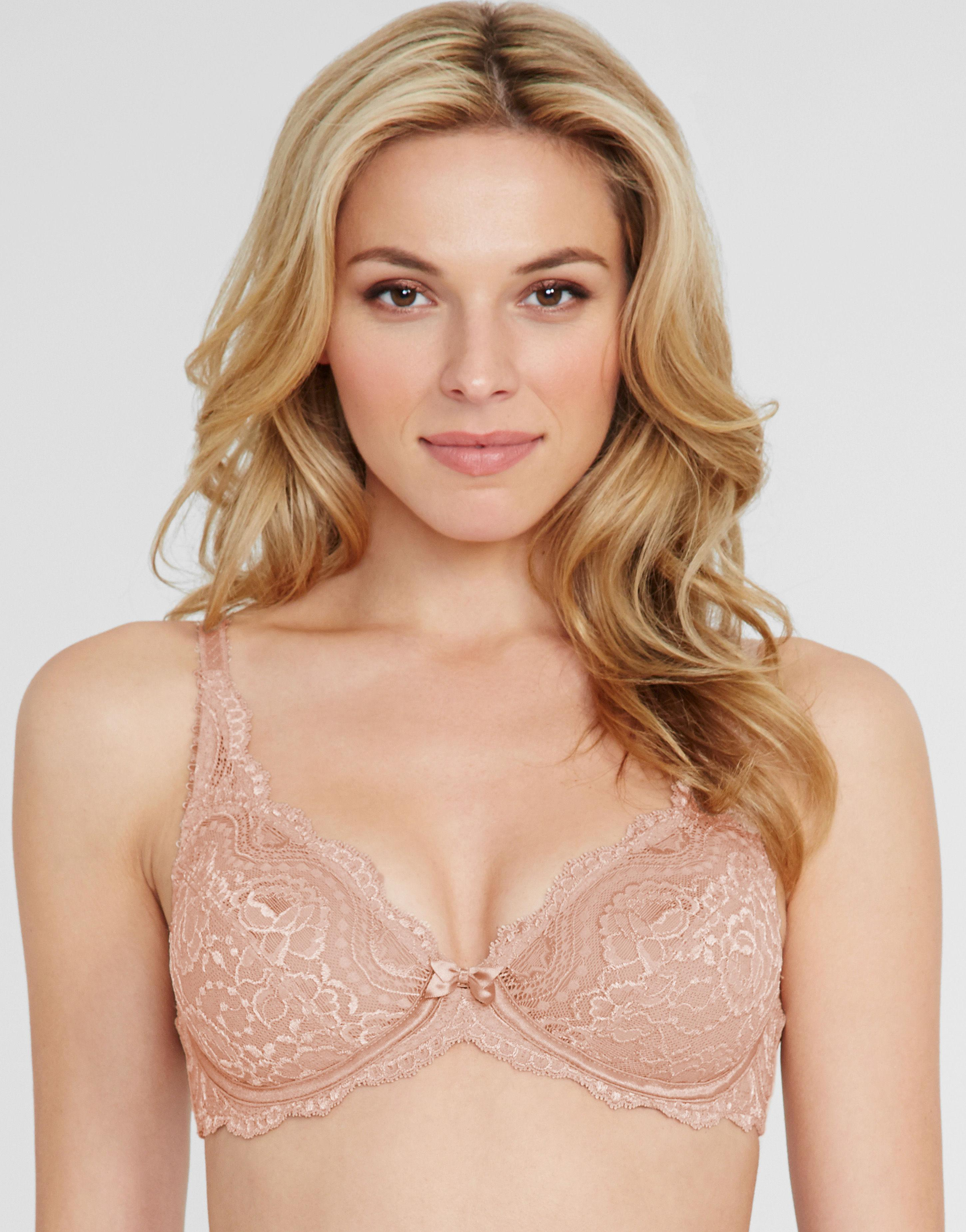 2c60f1b5e0d0c Playtex Flower Lace Underwired Bra in Natural - Lyst