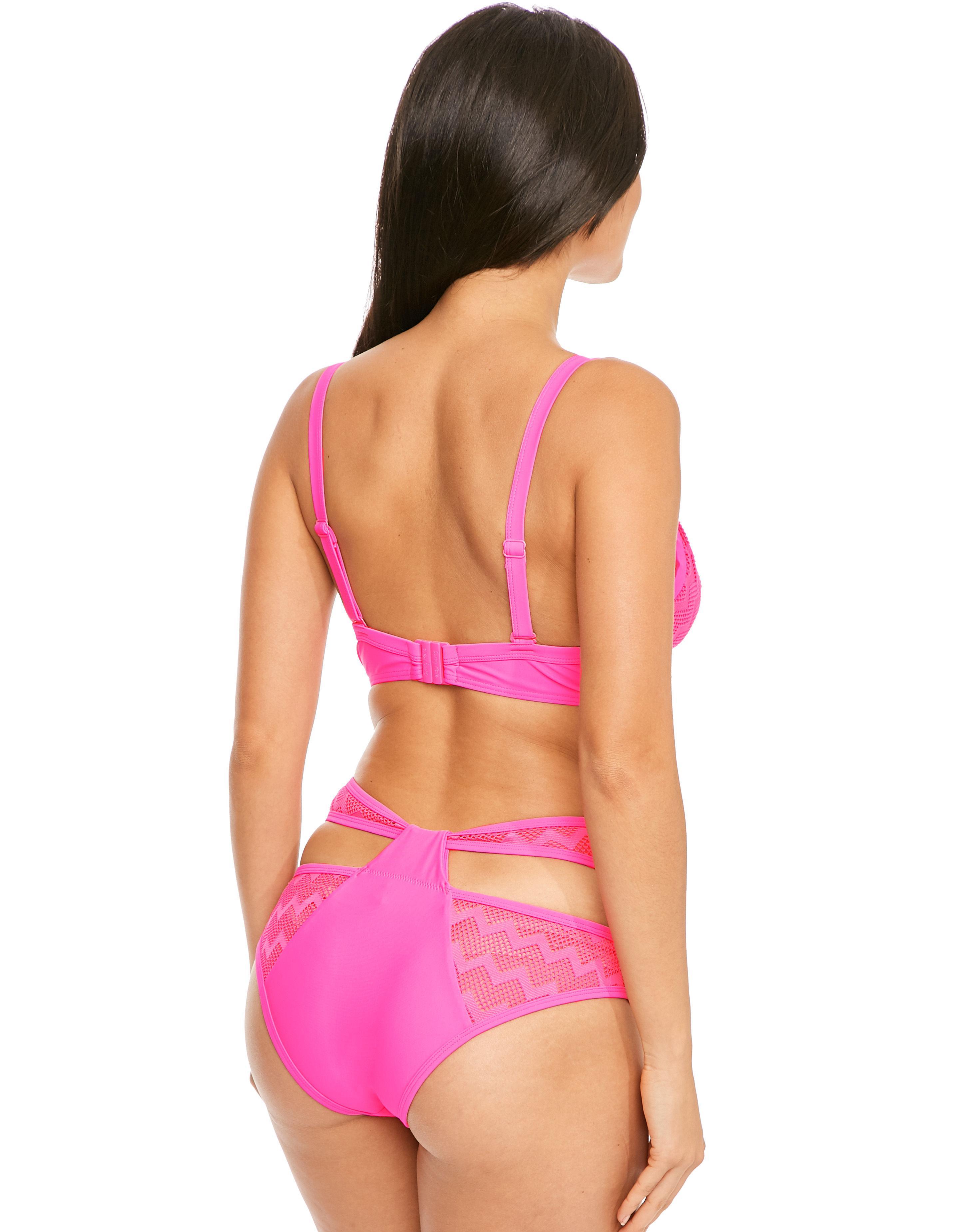 5570ad841c Curvy Kate Hi Voltage Plunge Bikini Top in Pink - Lyst