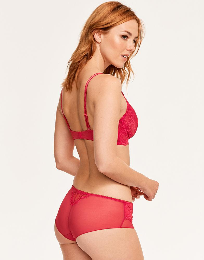 9483d9499 Figleaves Juliette Lace Underwired Non-pad Bra B-GG Cup in Red - Lyst