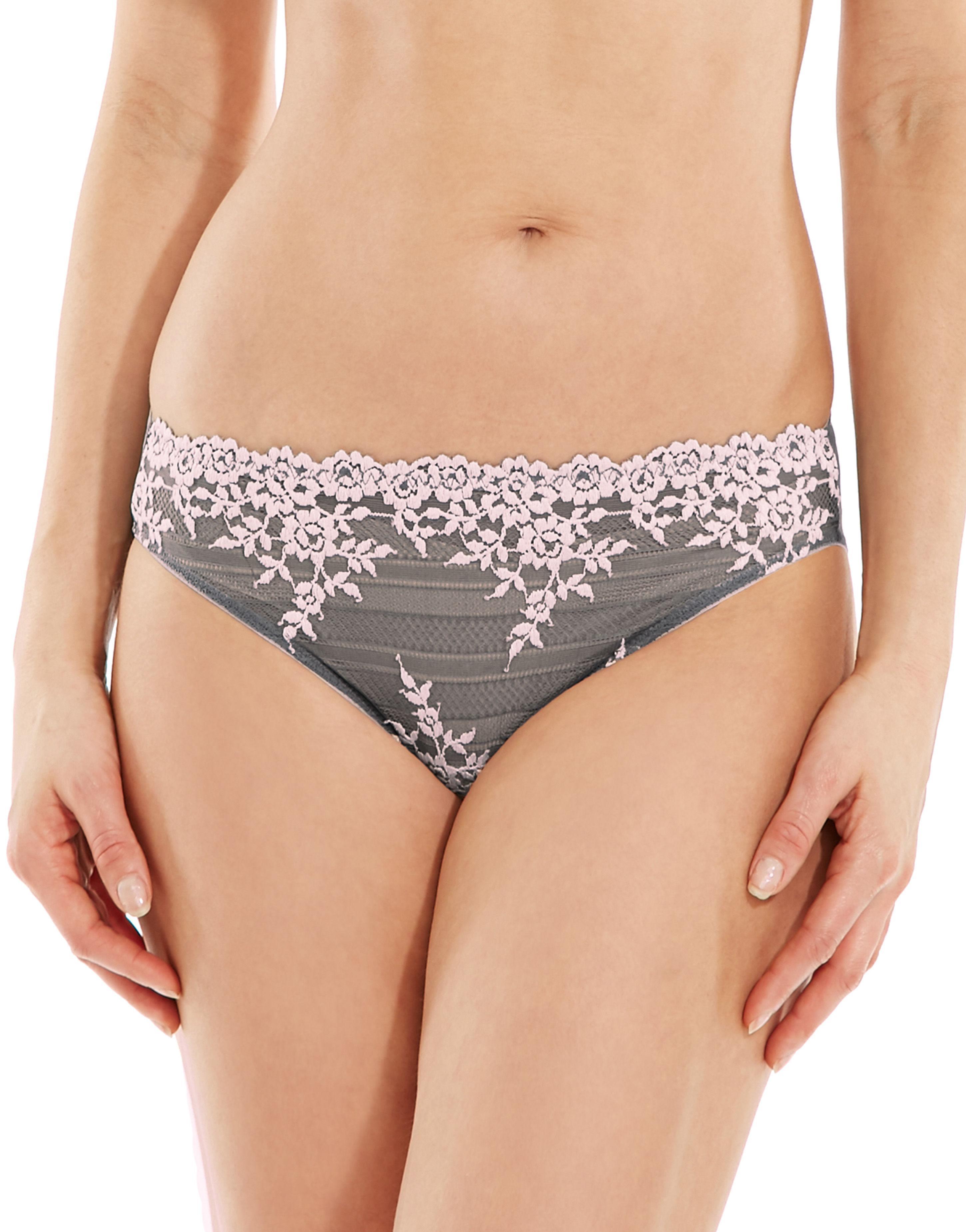 b13d12b6c3d6e Wacoal Embrace Lace Bikini Brief in Gray - Lyst