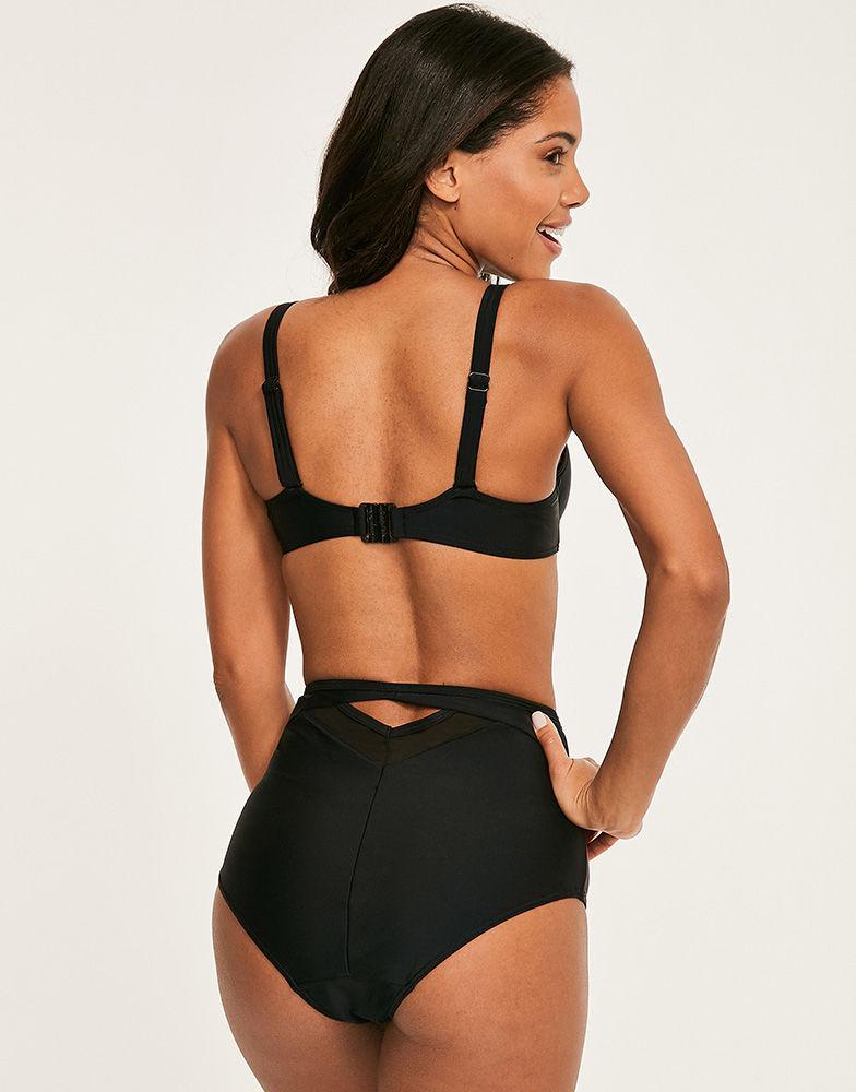 ea309108e3aa3 Curvy Kate Sheer Class Balcony Bikini Top in Black - Lyst