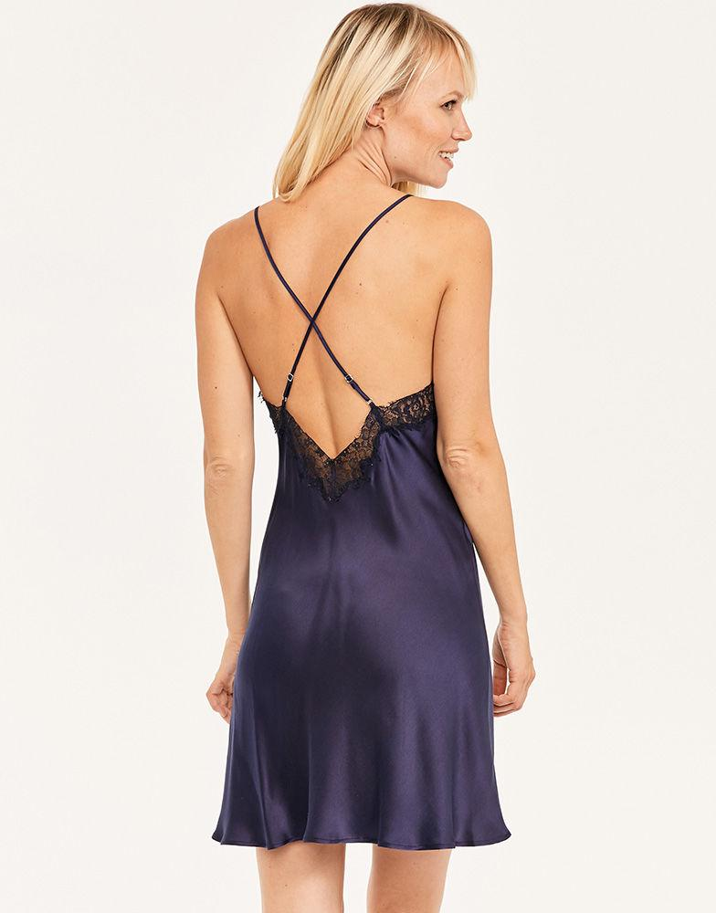 681d84aff Figleaves Lana Pure Silk And Lace Chemise in Blue - Save 15% - Lyst