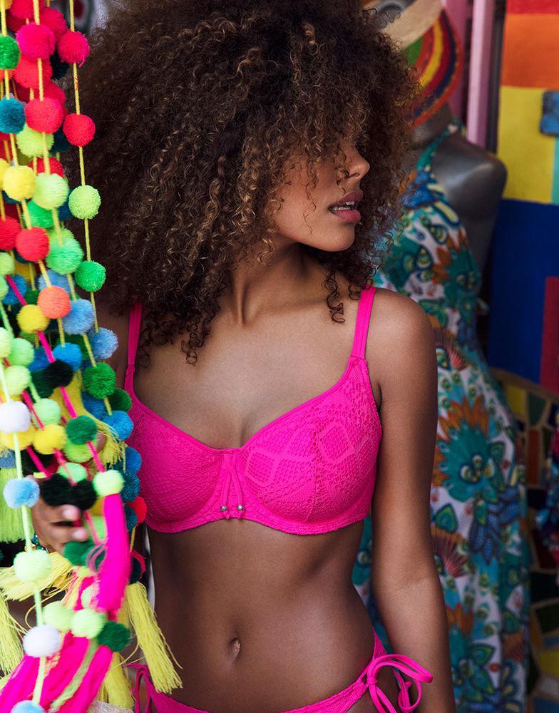 a97b6926bf Freya Sundance Underwired Sweetheart Padded Bikini Top in Pink - Lyst
