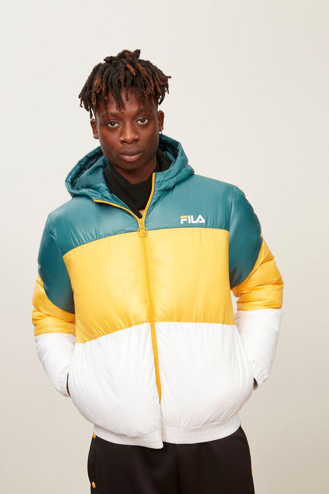 4c44aab0e92a Fila Tatum Windjacket in Yellow for Men - Lyst