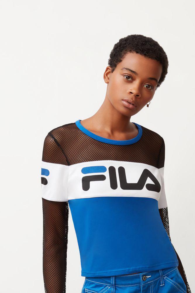 Fila - Multicolor Tara Crop Long Sleeve Top - Lyst. View fullscreen 3e234acbb