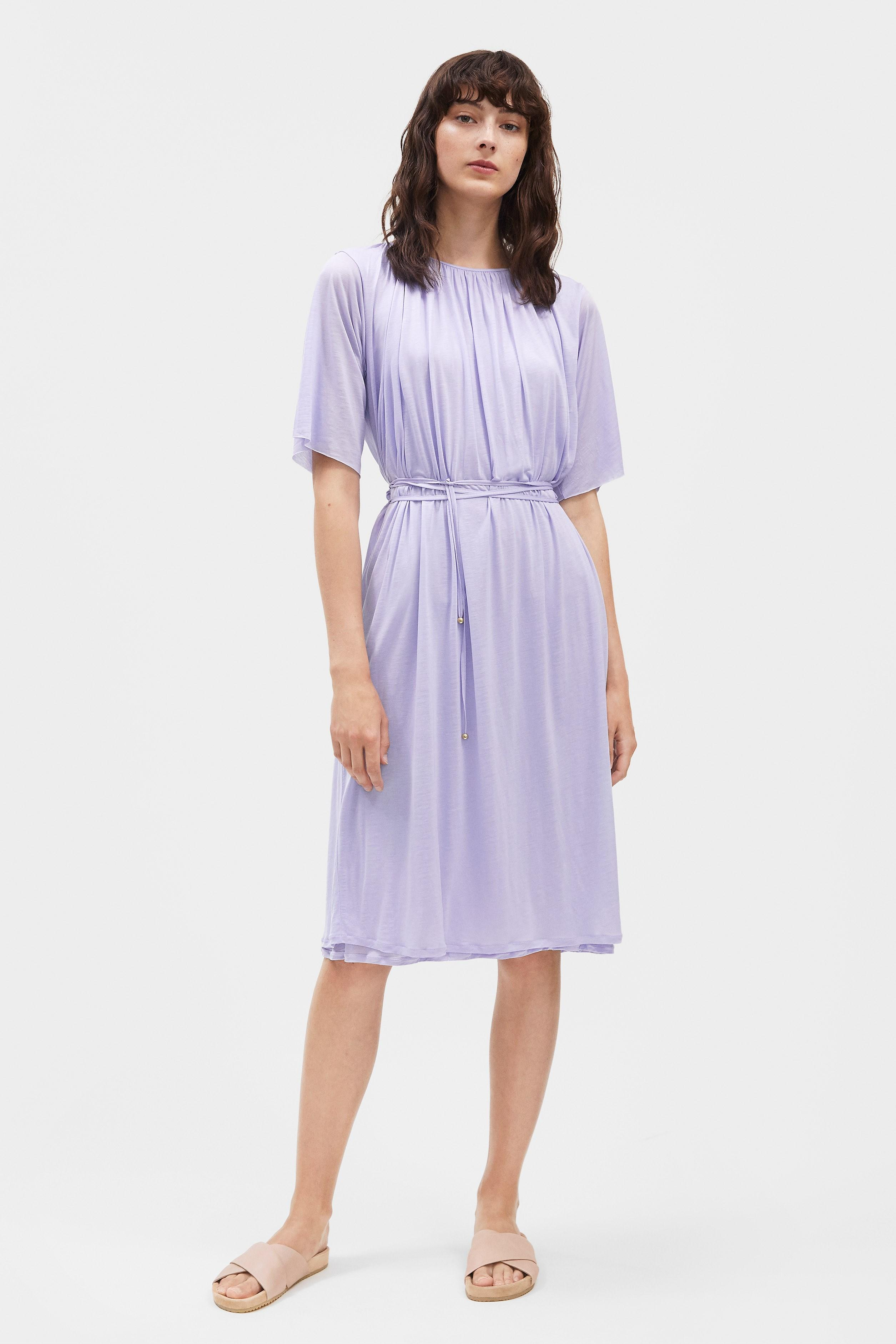 a2bacf969 Filippa K Gathered Tie Waist Dress in Purple - Lyst