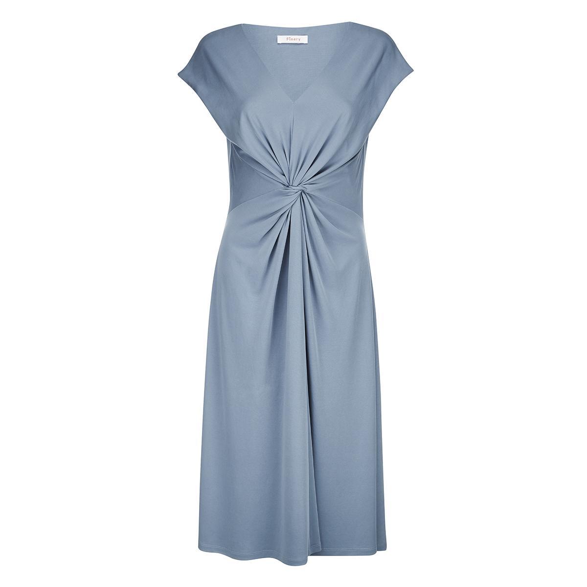 Caledonian Dusky Blue Twist Front Dress Finery QEXaRrXMwX