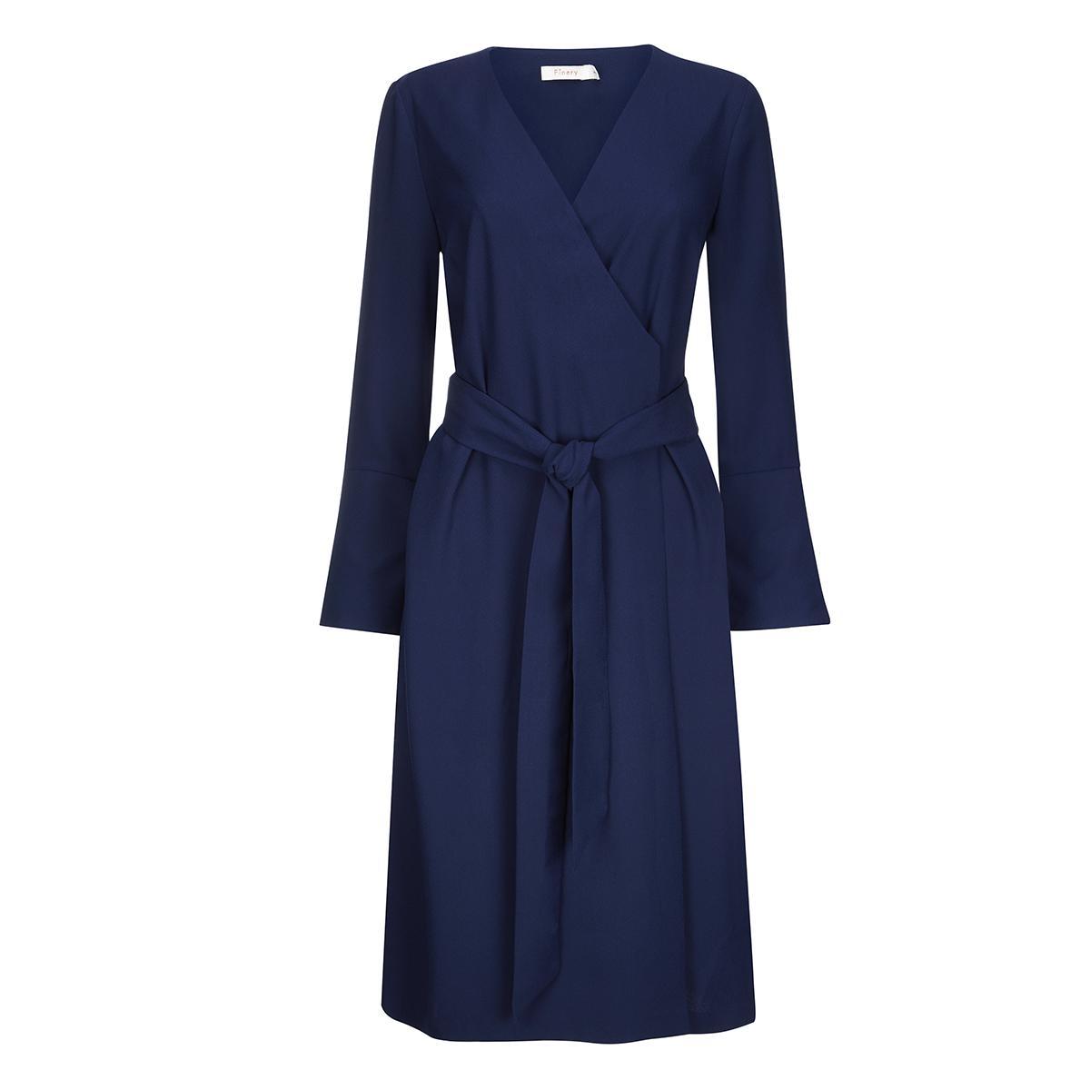 Gervase Midnight Blue Wrap Dress Finery Huge Range Of Cheap For Nice Really Sale Online lJnAAz