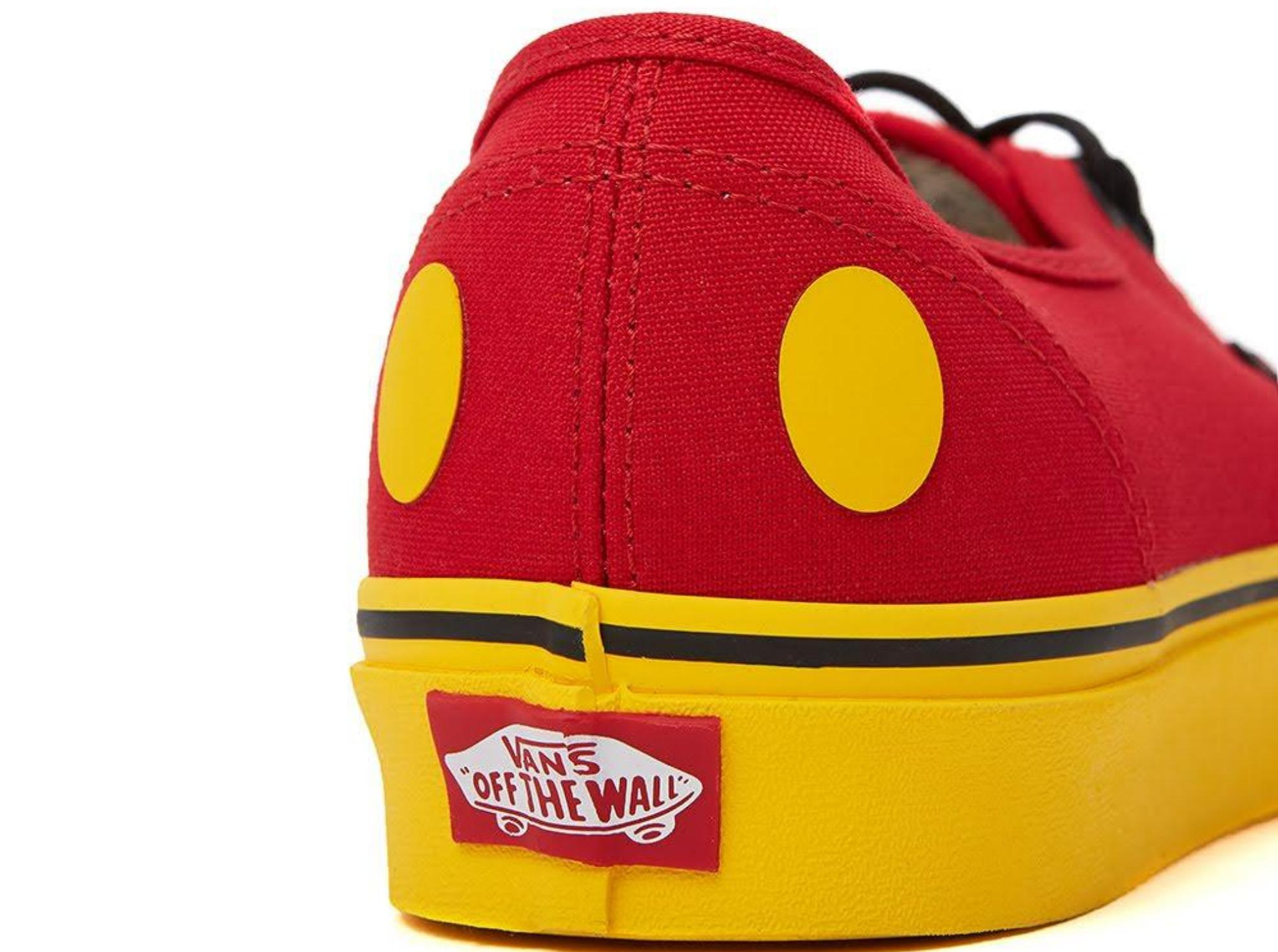 dcd5099bfe Lyst - Vans Men Disney 90th Au Mickey s Authentic Sneakers
