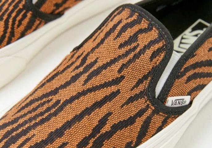 5ff367959fb3 Lyst - Vans Women Woven Tiger Slip-on Sneaker