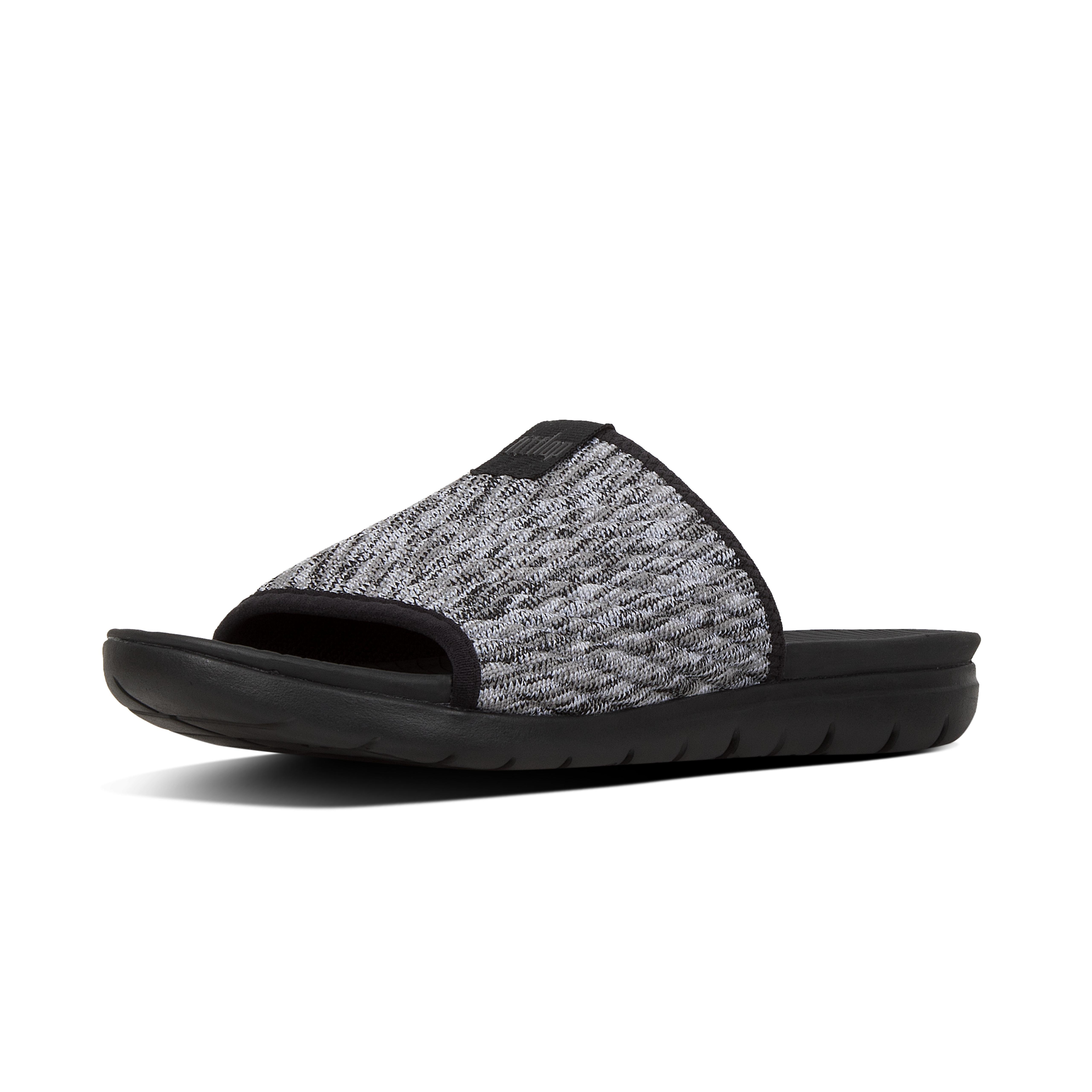 332d2a2f2b Fitflop Artknit Slide (black Mix) Shoes in Black - Save 49% - Lyst