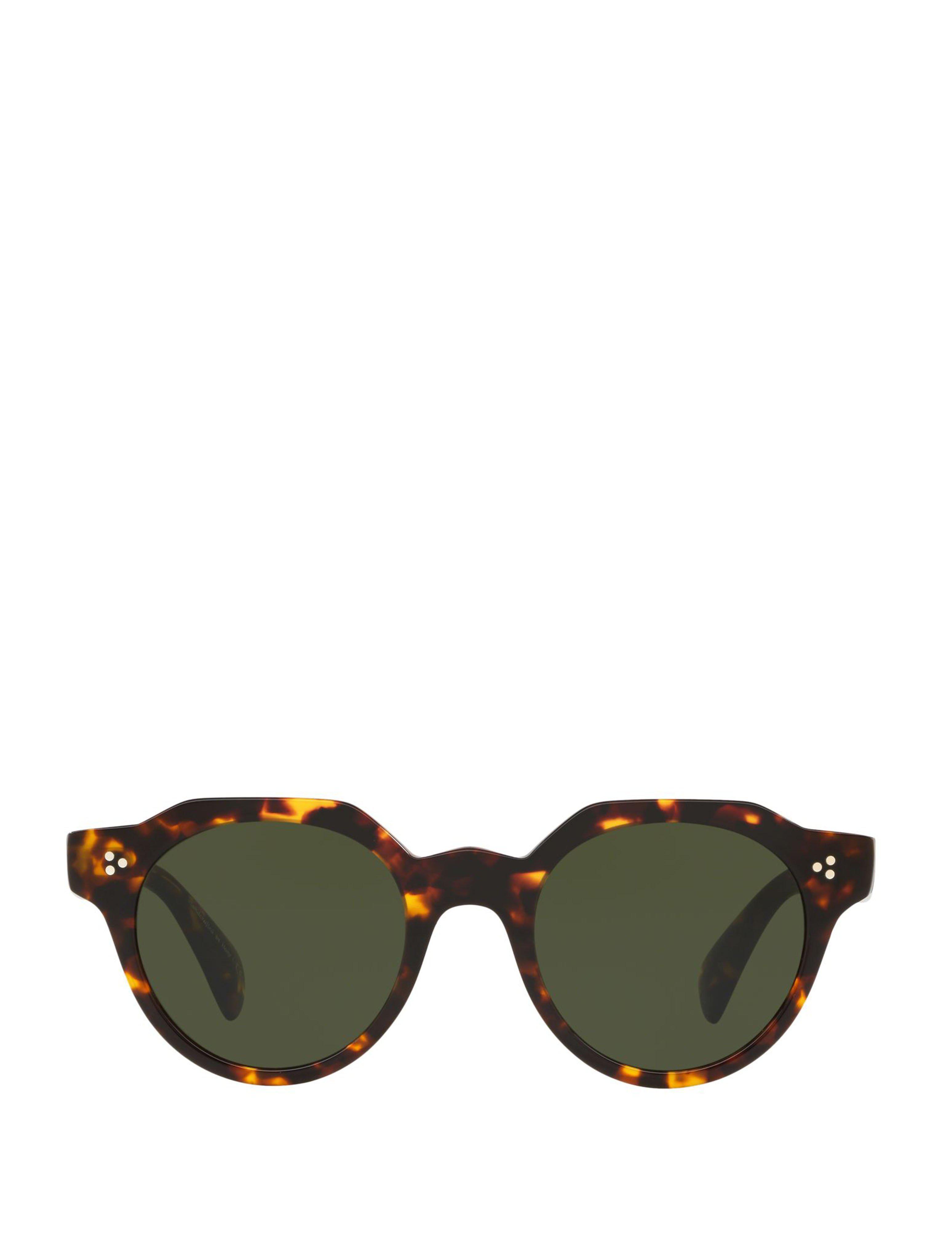 6e1313e28e5 Lyst - Oliver Peoples Irven Tortoise Round Sunglasses in Green