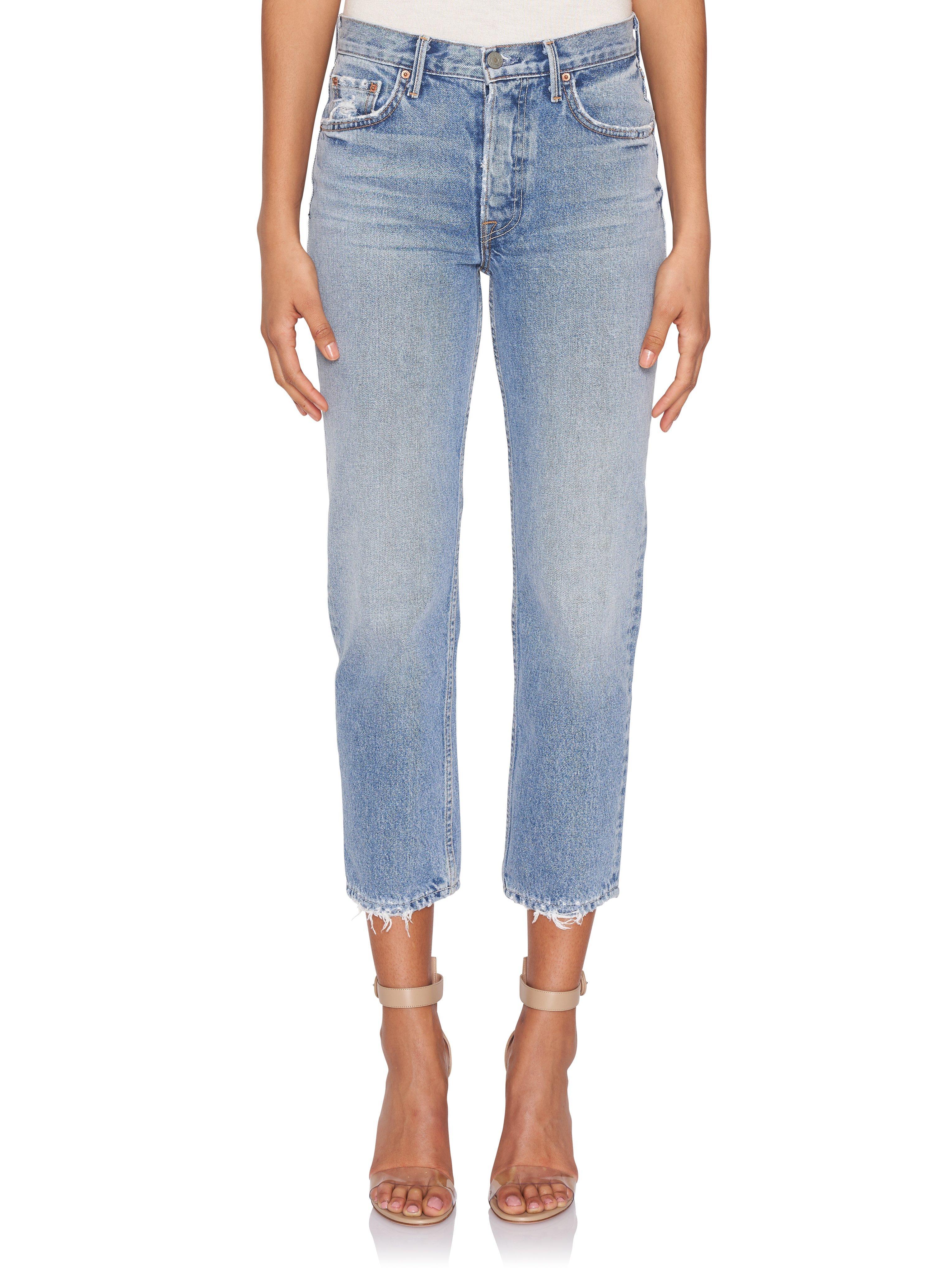 e451ae10b6e9 Lyst - GRLFRND Helena Hi-rise Crop Jeans in Blue