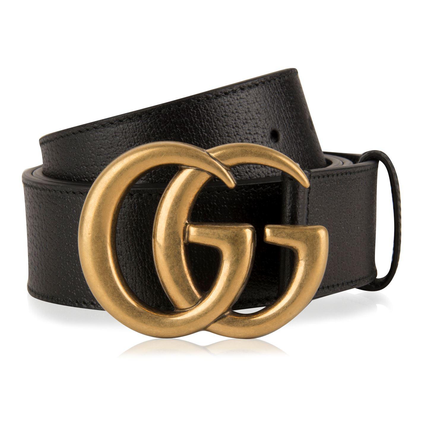 c42e5e4151868f Gucci Gg Marmont Belt in Black - Save 17% - Lyst