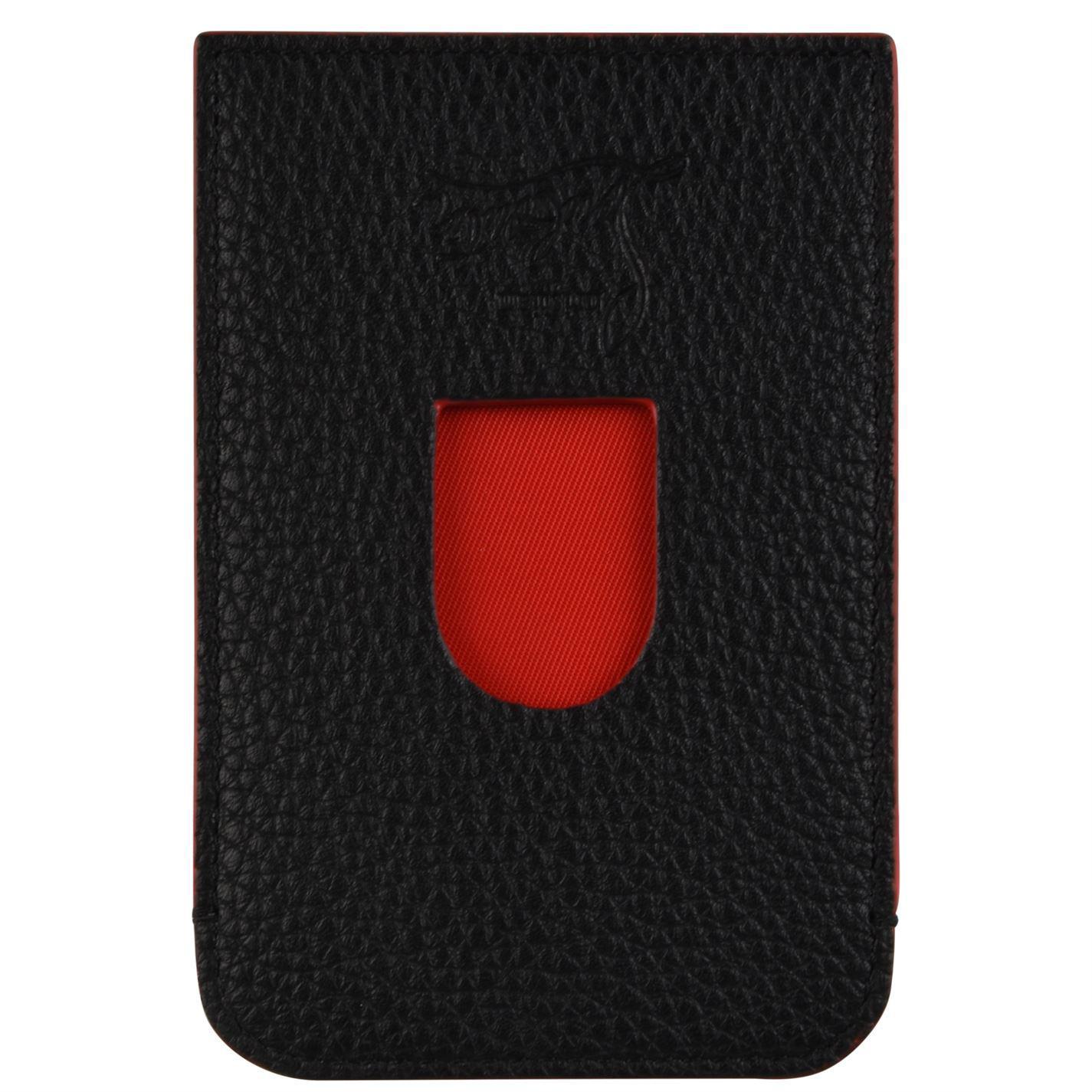 54f2b942217 Lyst - Christian Louboutin Loubi Card Holder in Black for Men