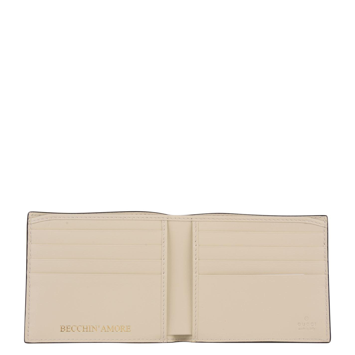 6b74d801a01 Gucci - White Guccy Bifold Wallet for Men - Lyst. View fullscreen