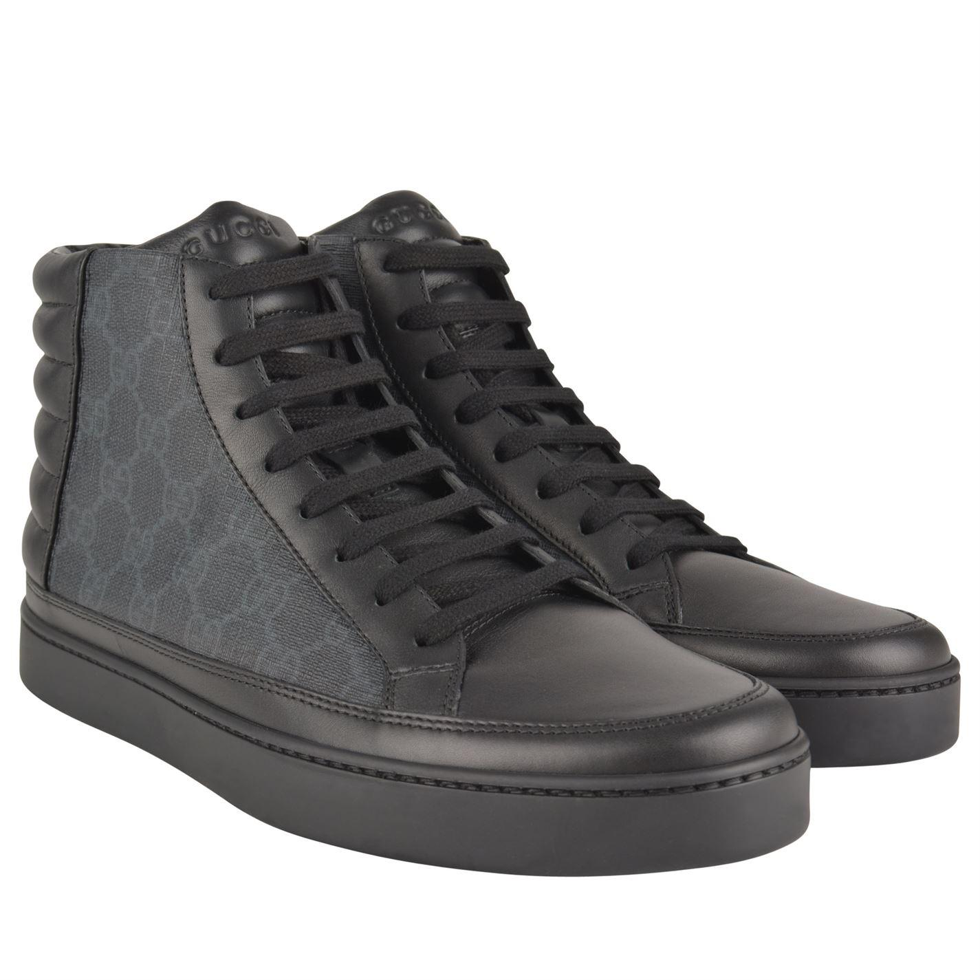 a148c7f33638 Gucci - Black Common High Gg Trainers for Men - Lyst. View fullscreen