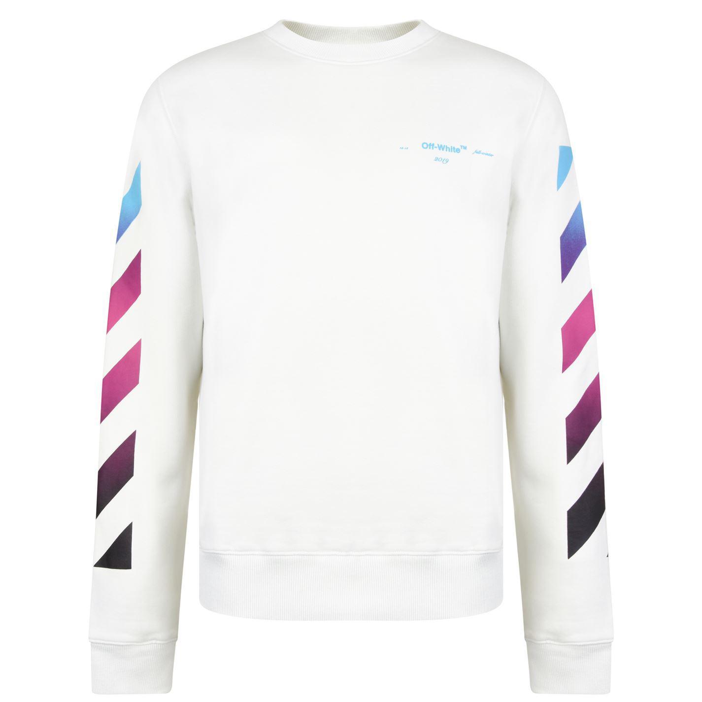 6b04748408f2 Off-White c o Virgil Abloh Gradient Diagonal Sweatshirt for Men - Lyst