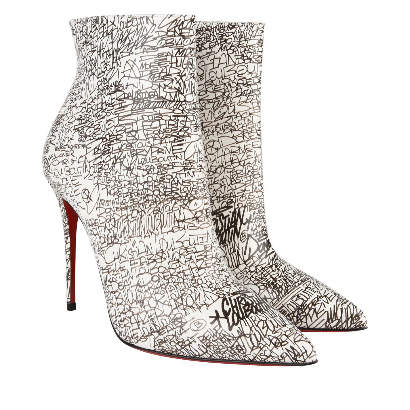 f23cc3ac7ee Christian Louboutin - White So Kate Patent Leather Nicrograf Boots - Lyst.  View fullscreen