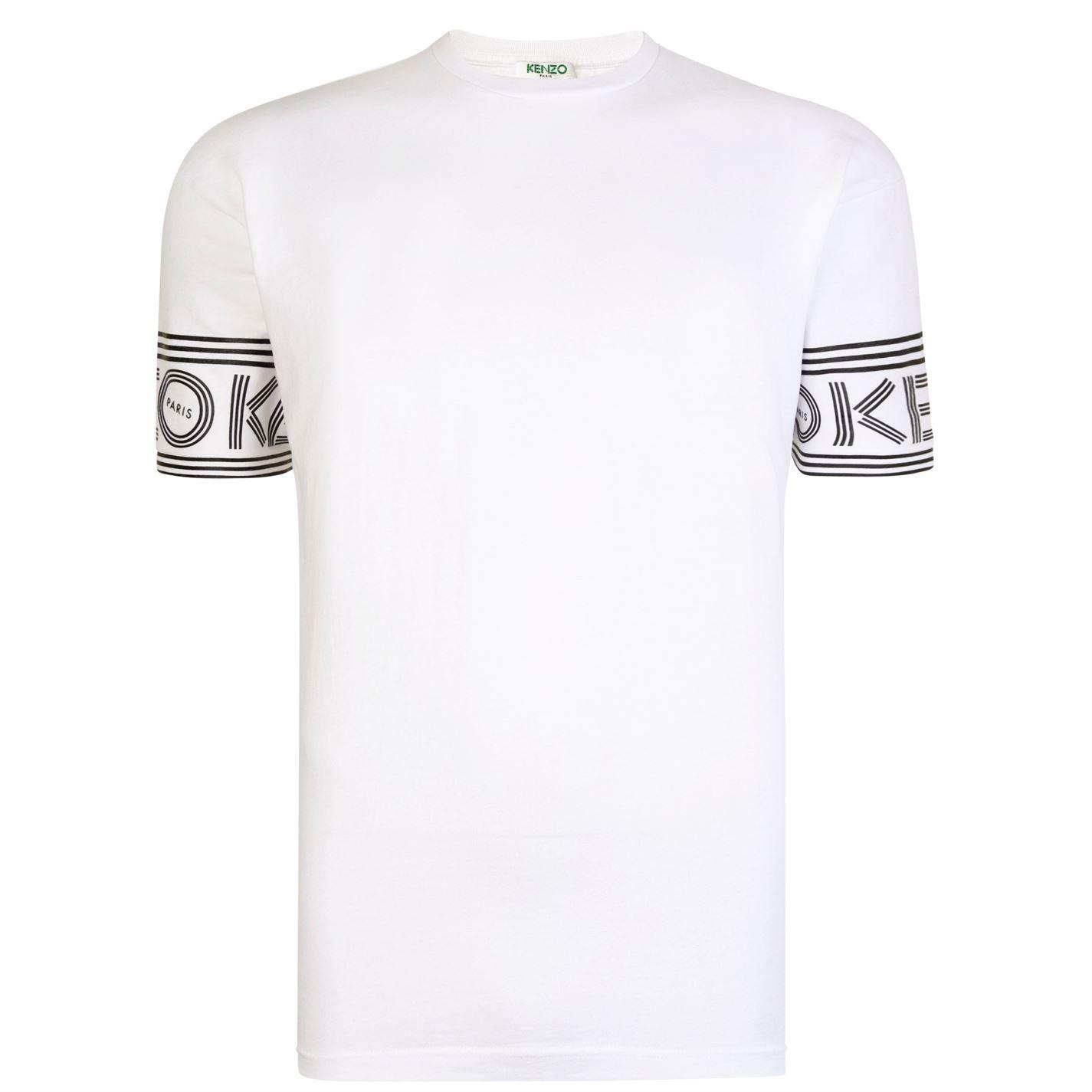1cbb08ec71a7 KENZO - White Sport Logo T Shirt for Men - Lyst. View fullscreen