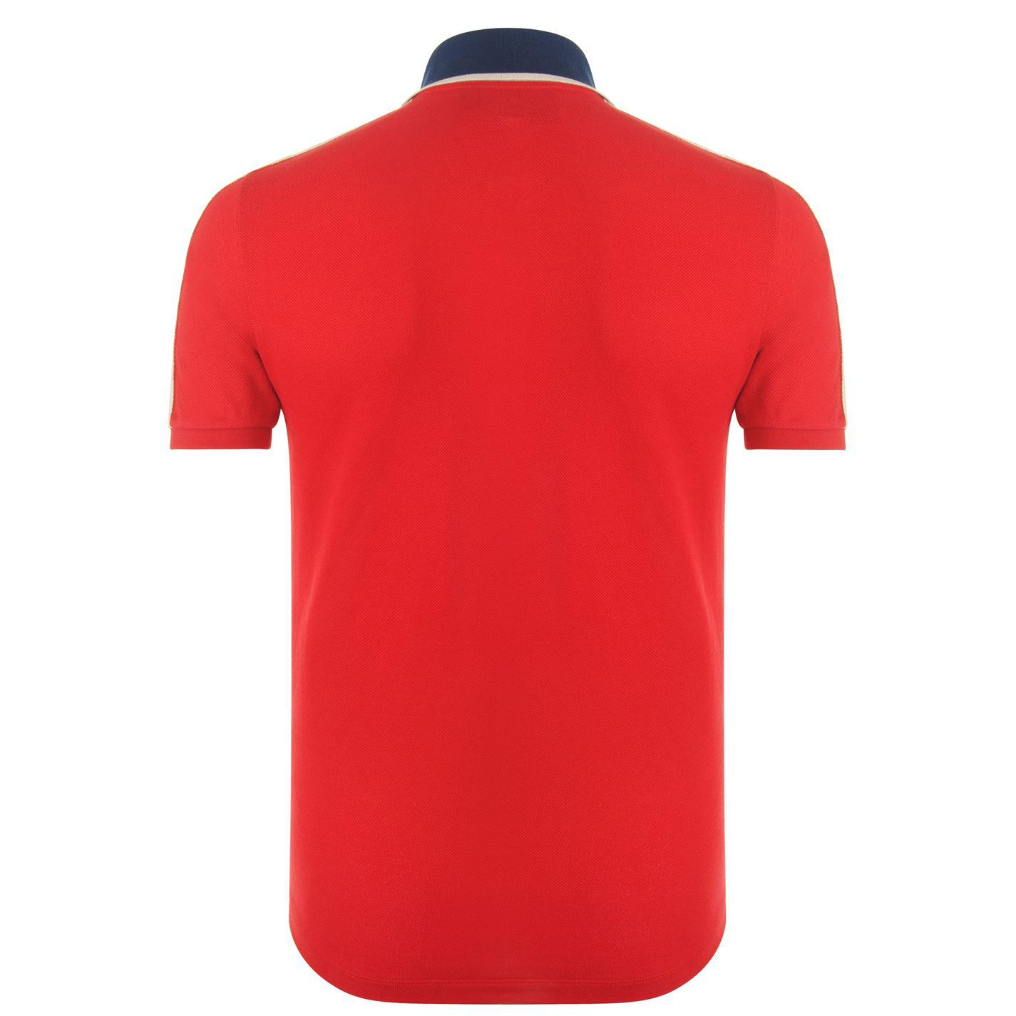 48cba3099 Gucci Ribbon Polo Shirt in Red for Men - Lyst