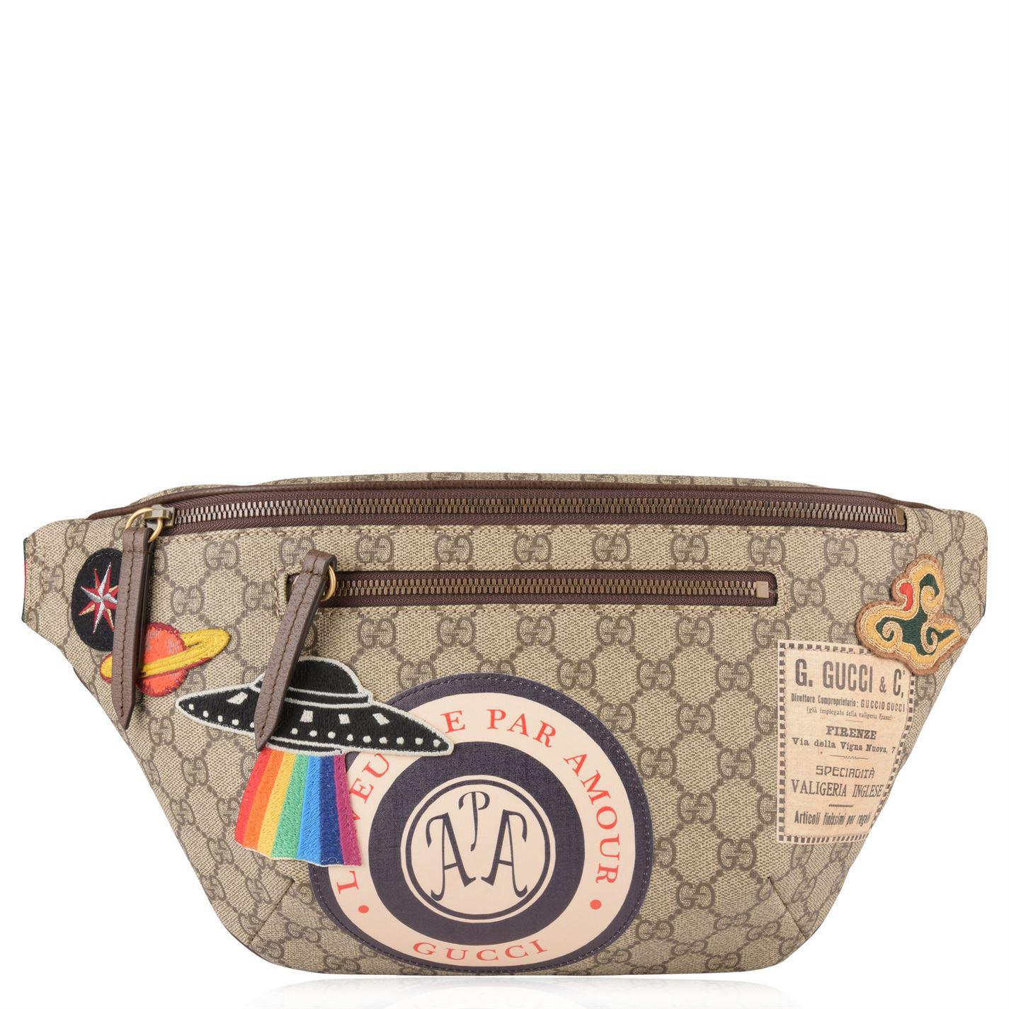 d3a3fc8a2be9 Gucci Gg Supreme Patch Belt Bag in Natural - Lyst