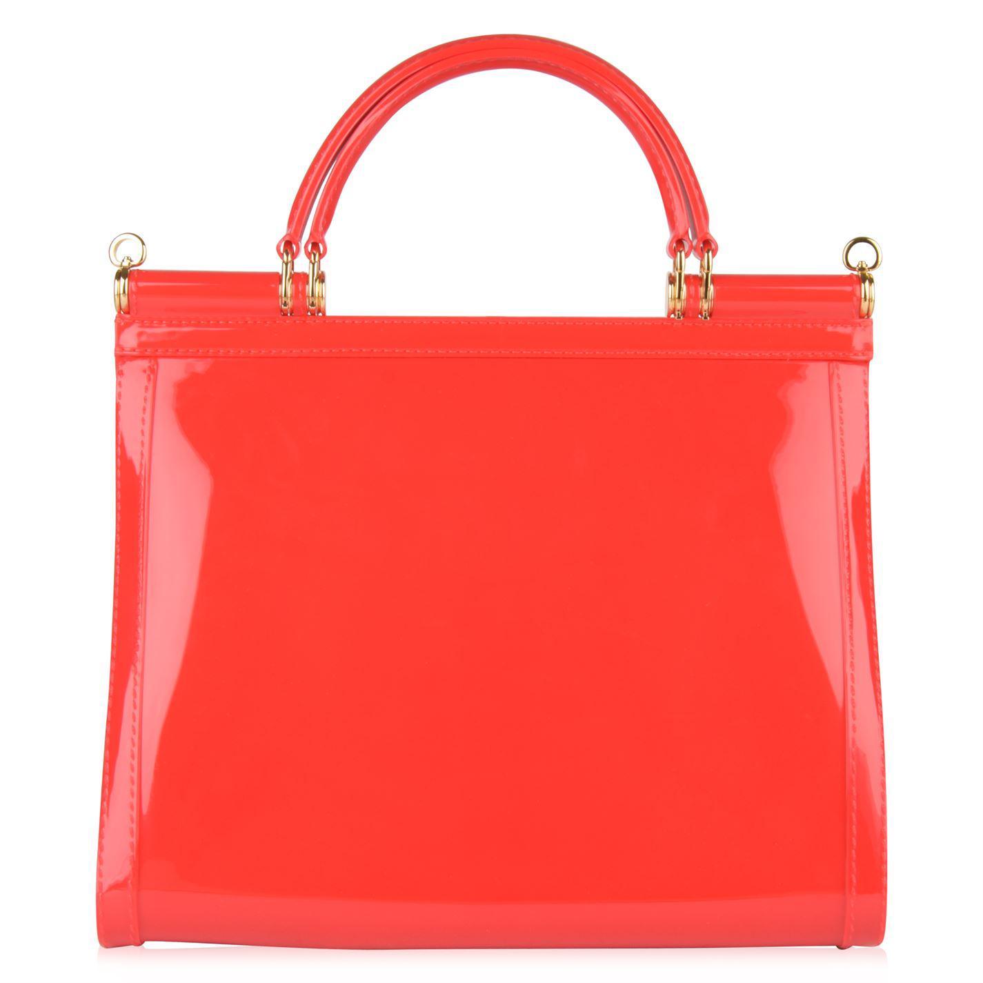 ebe535824173 Lyst - Dolce   Gabbana Sicily Semi Transparent Rubber Bag in Red