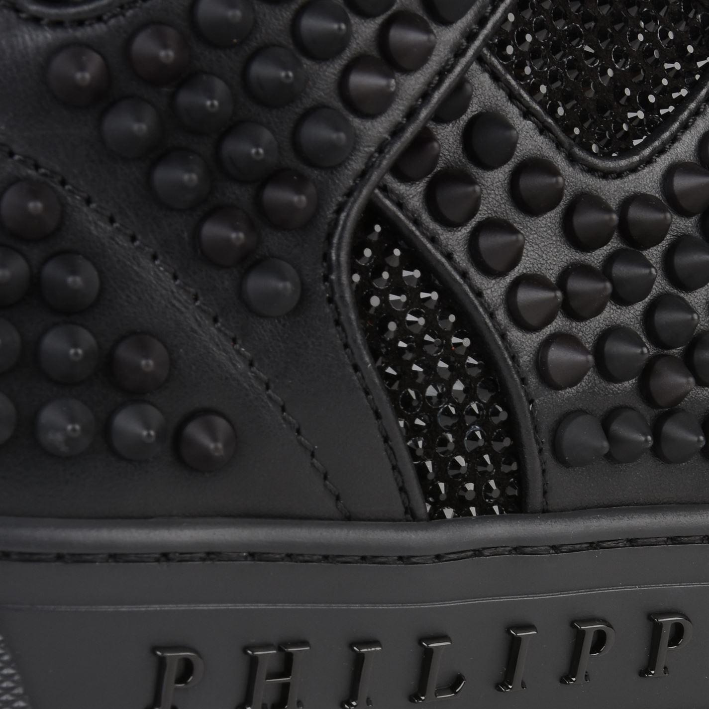 4d17949965 Philipp Plein Dont Wake Me Up High Top Trainers in Black for Men - Lyst