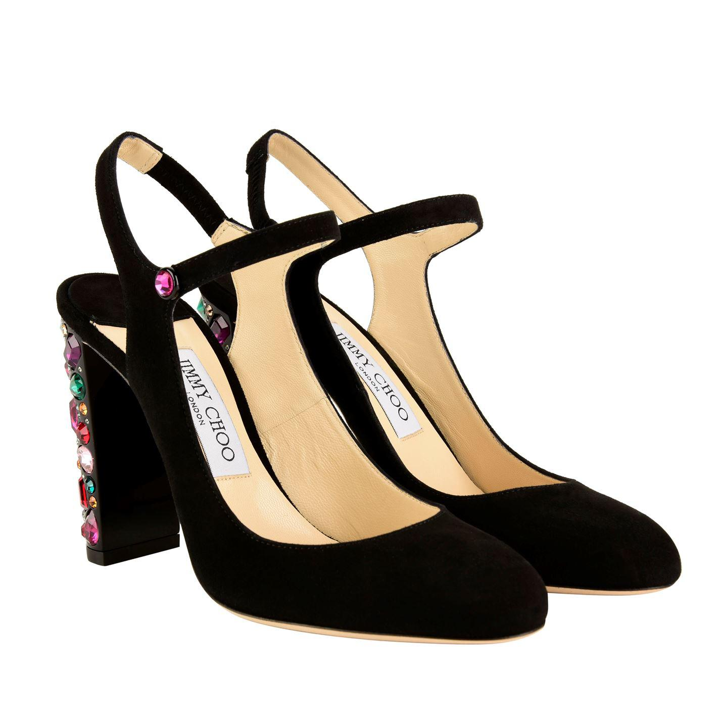 e491ca00611 Lyst - Jimmy Choo Maegan Heels in Black