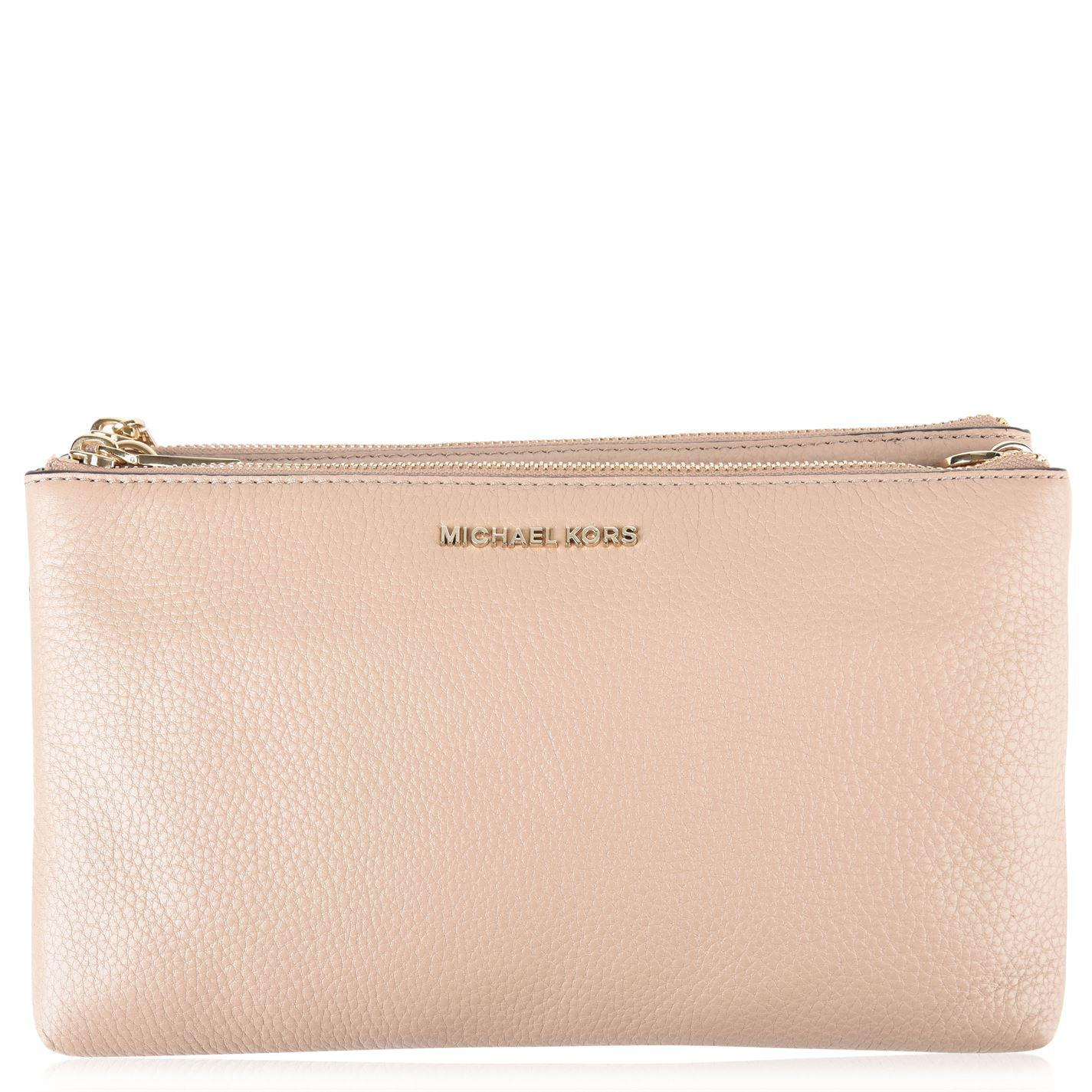 79b0777c3841a Michael Michael Kors Adele Leather Cross Body Double Zip Bag in ...