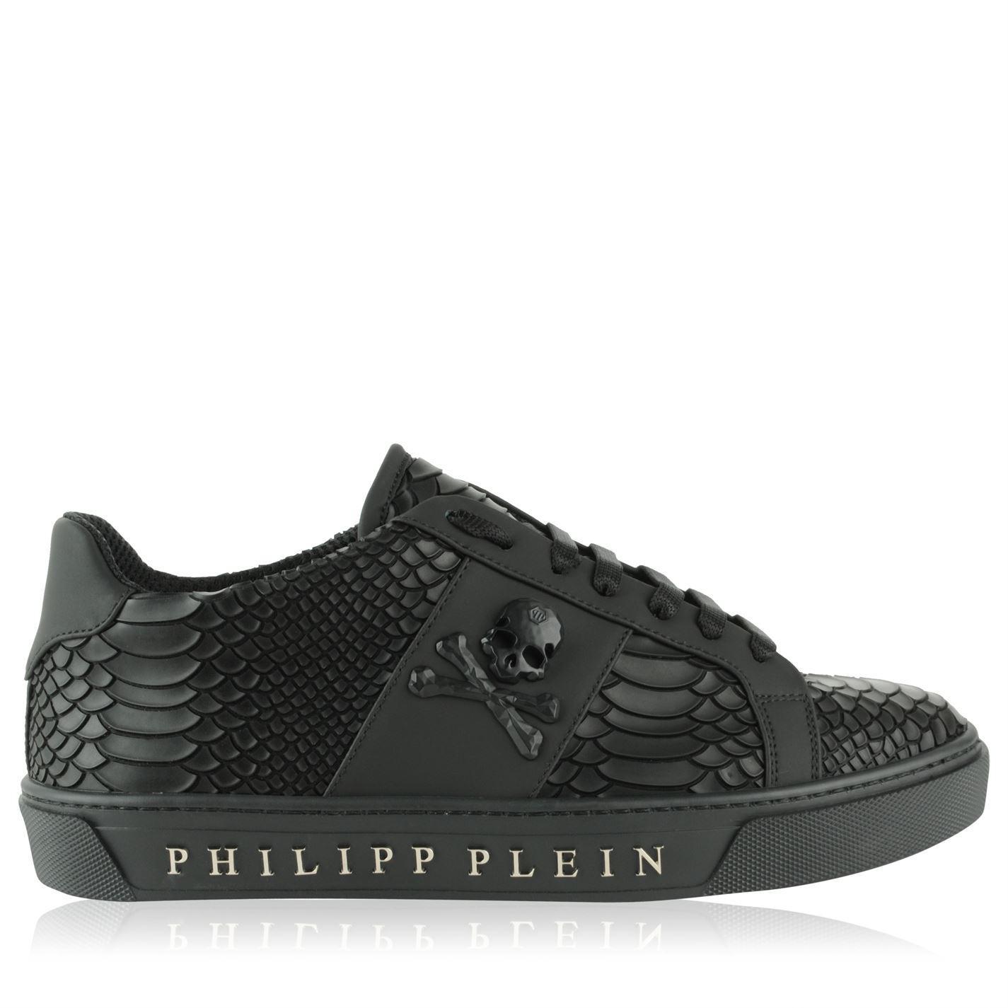52068471500 Philipp Plein Talk Slow Trainers in Black for Men - Lyst
