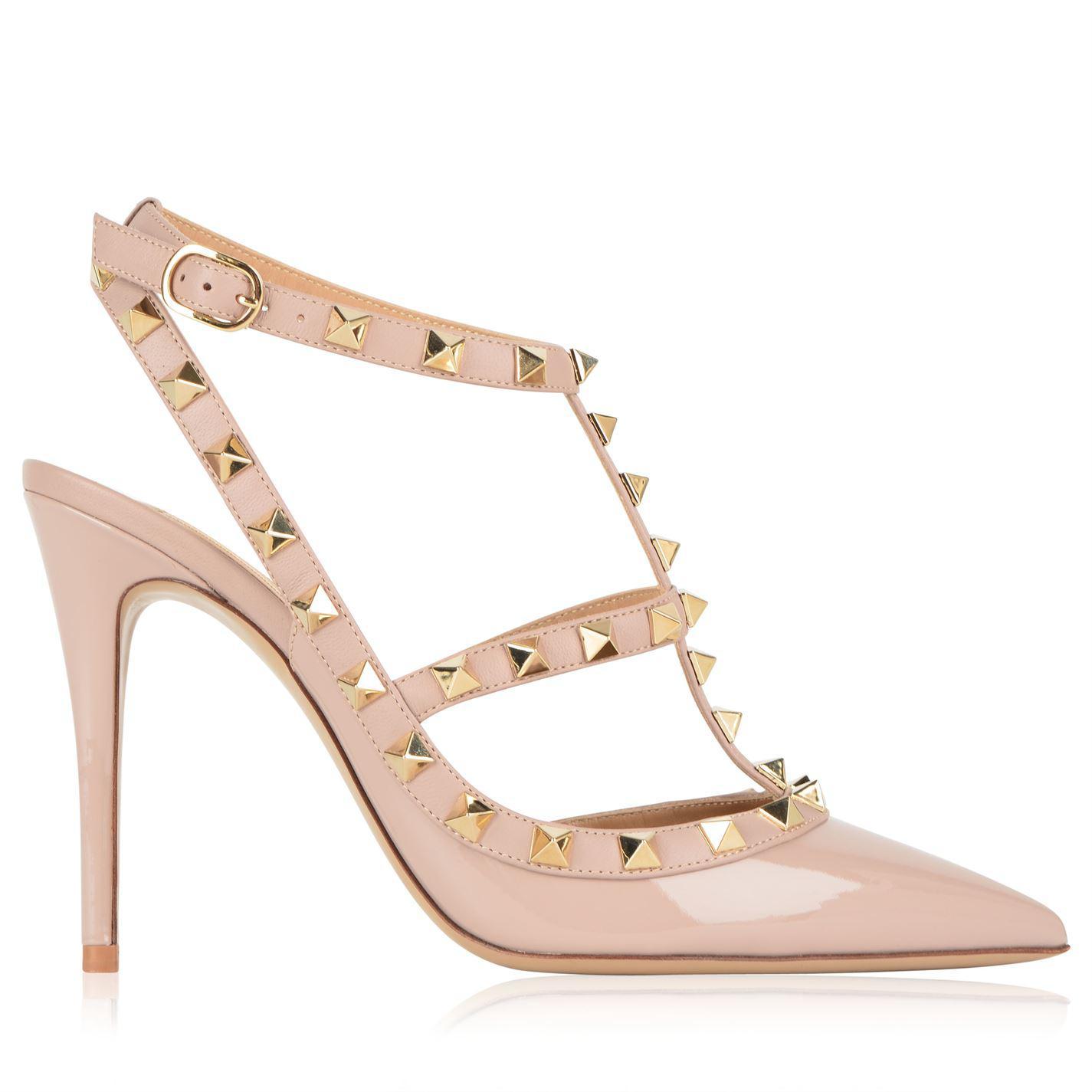c4c9d446b Valentino. Women s Rockstud 100 Ankle Strap Heels